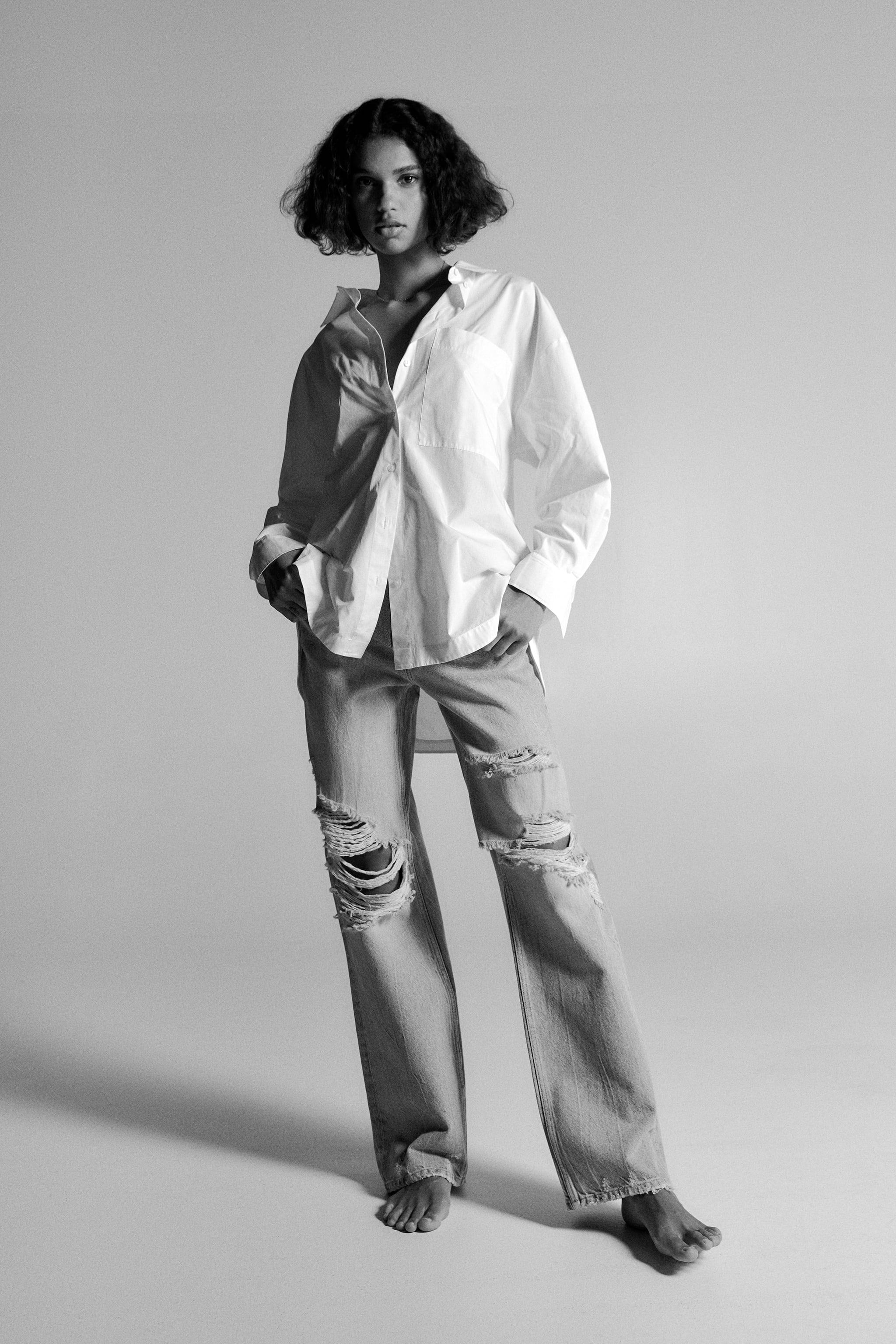 Z1975 HI-RISE STRAIGHT LEG JEANS WITH RIPS 4