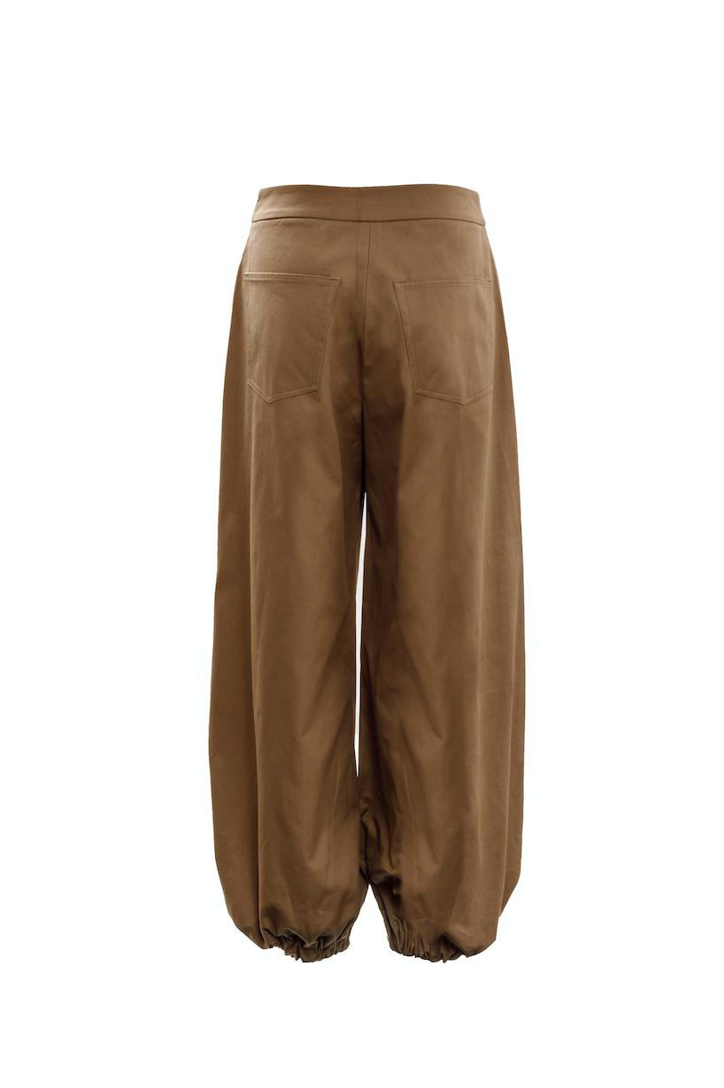 Drawcord Trousers (Camel) 1
