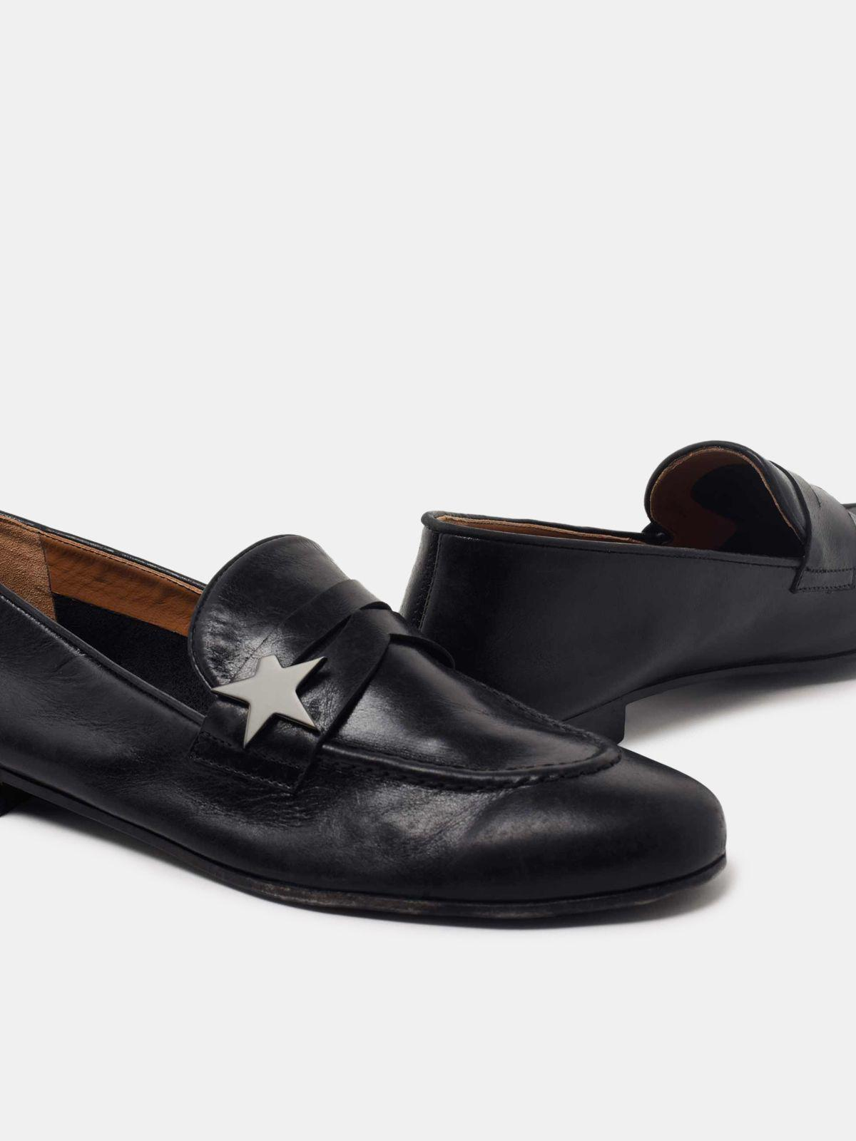 Virginia loafers in smooth black leather 3