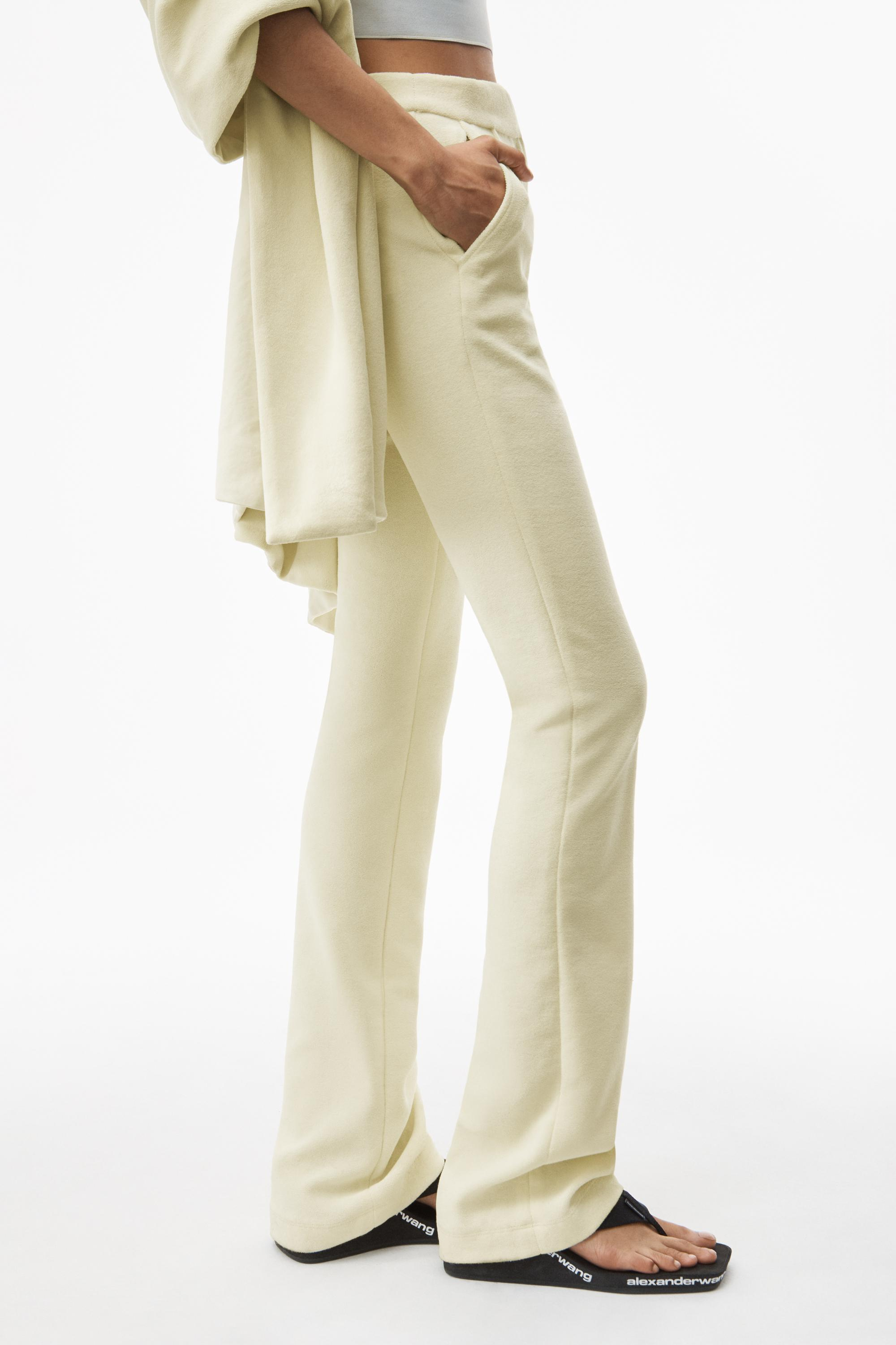stacked pant in velour tailoring 2