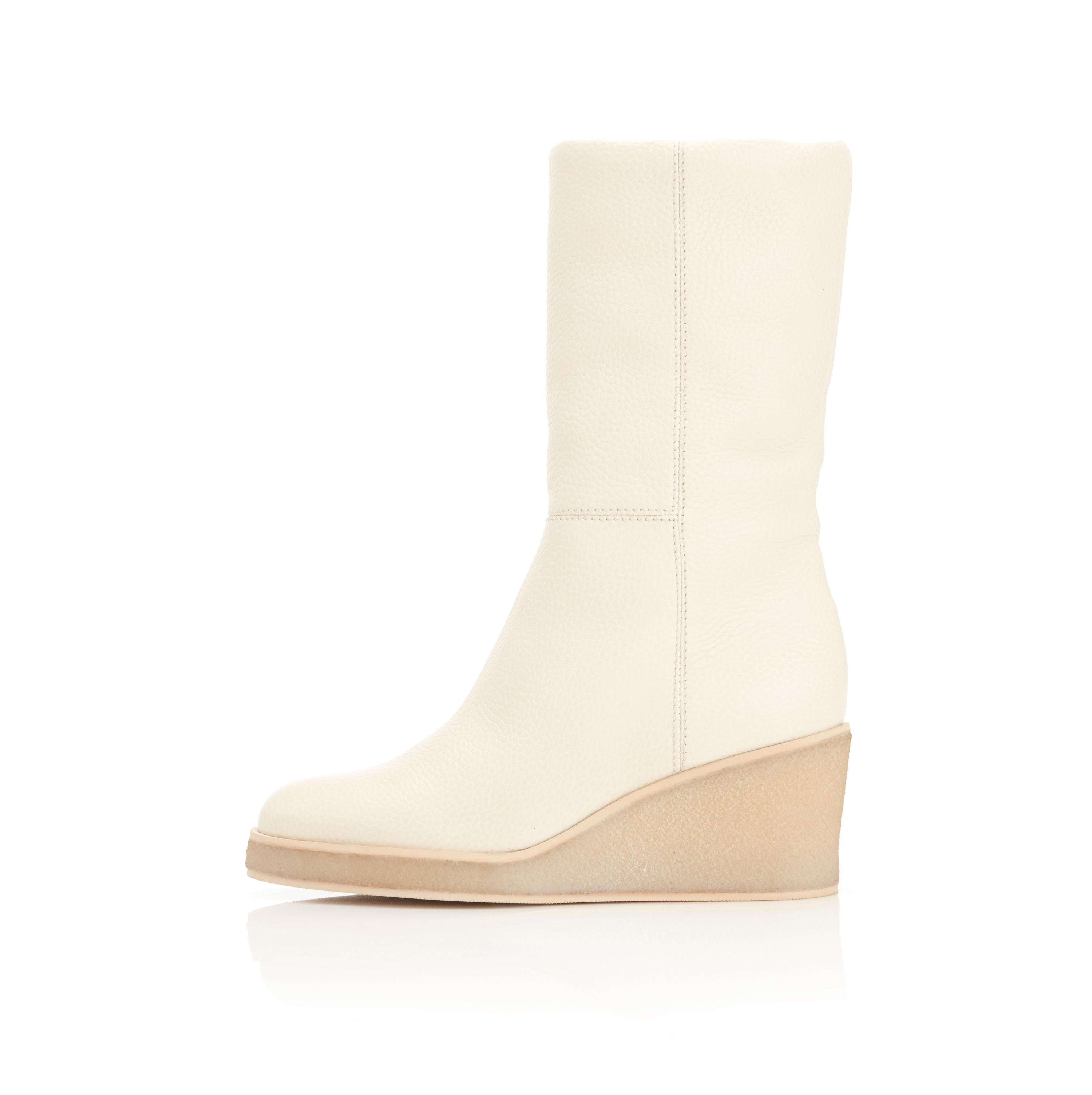 Tucker | Pebbled Leather Wedge Boot