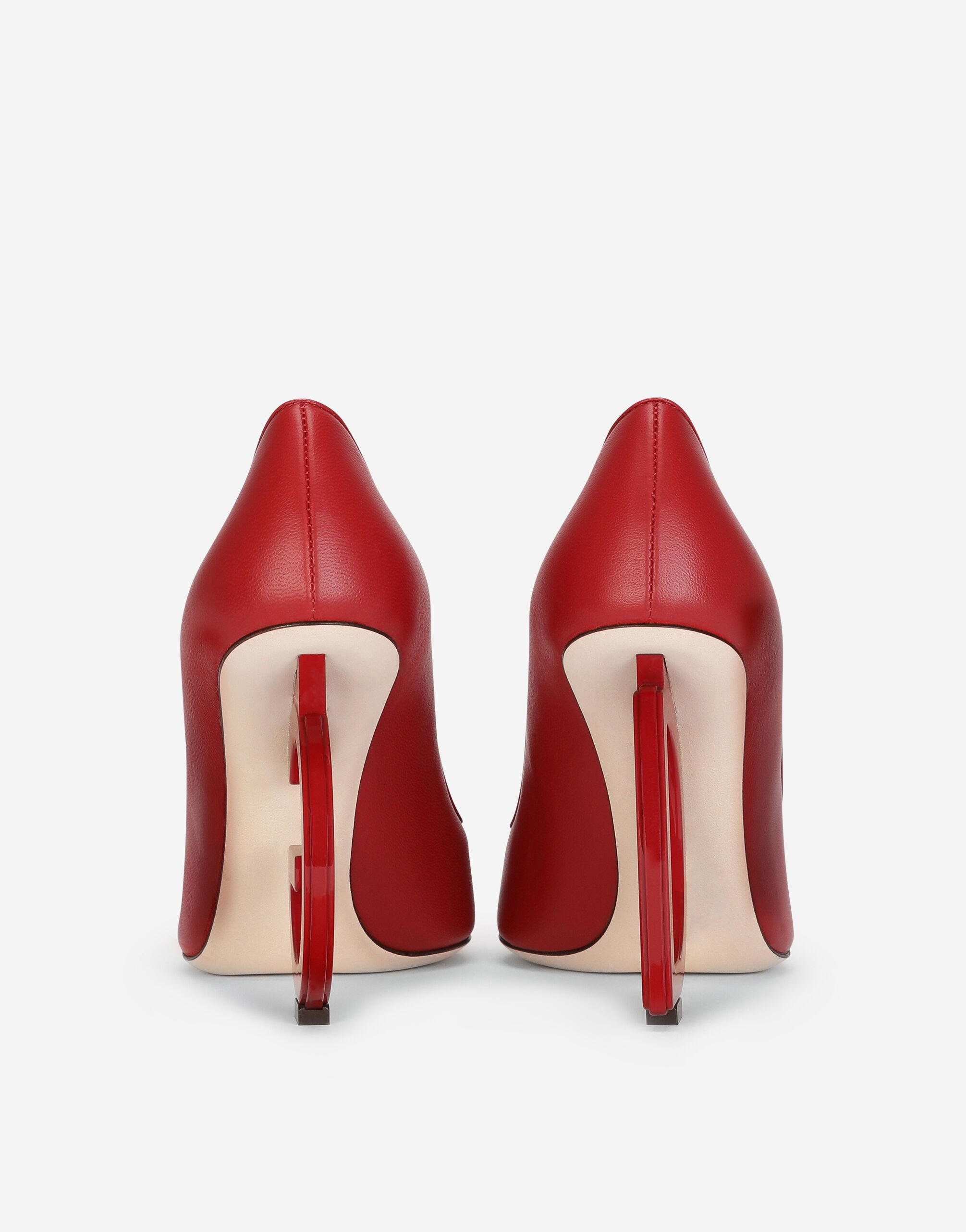Nappa leather pumps with DG heel 2