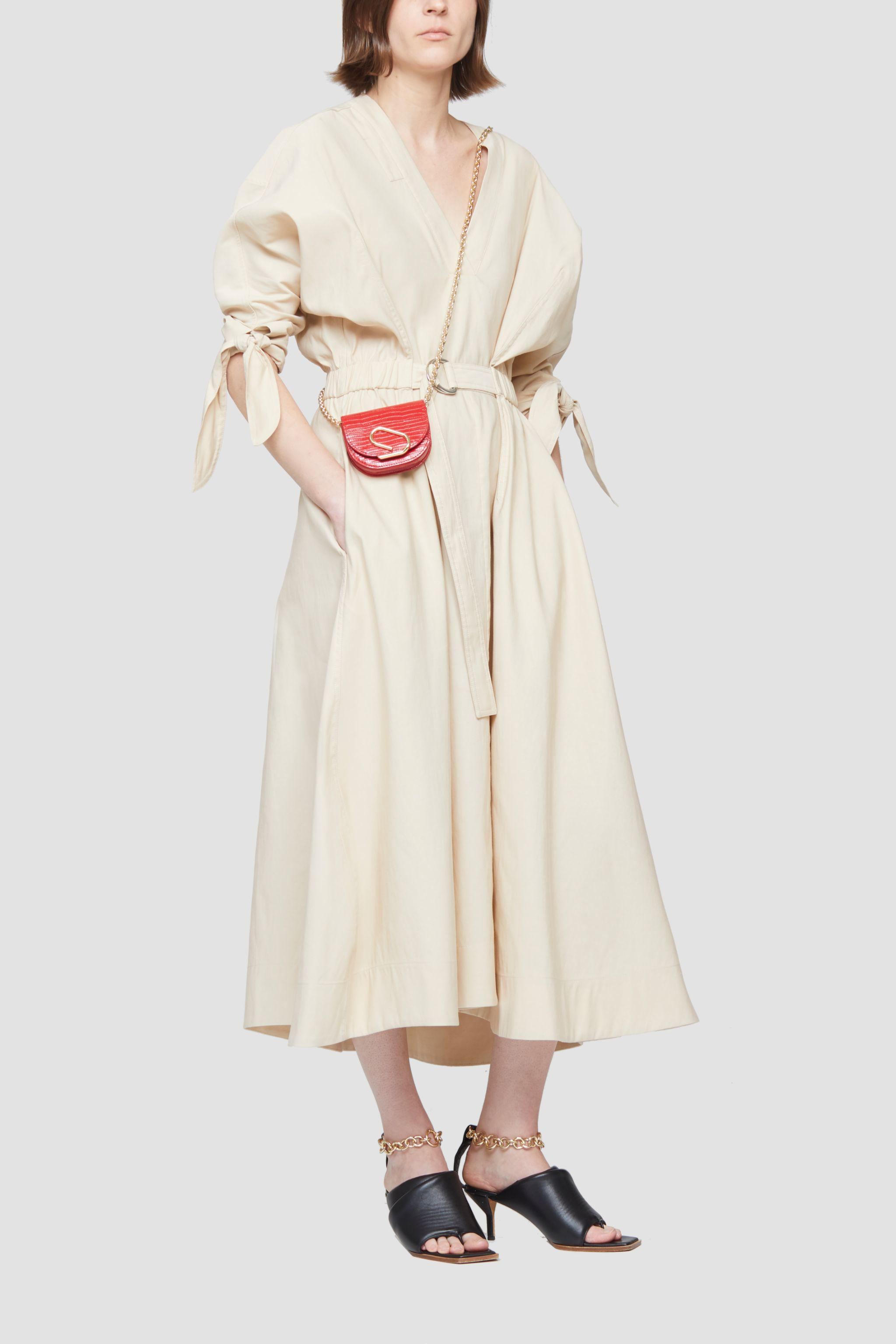Belted Mid Length Dress