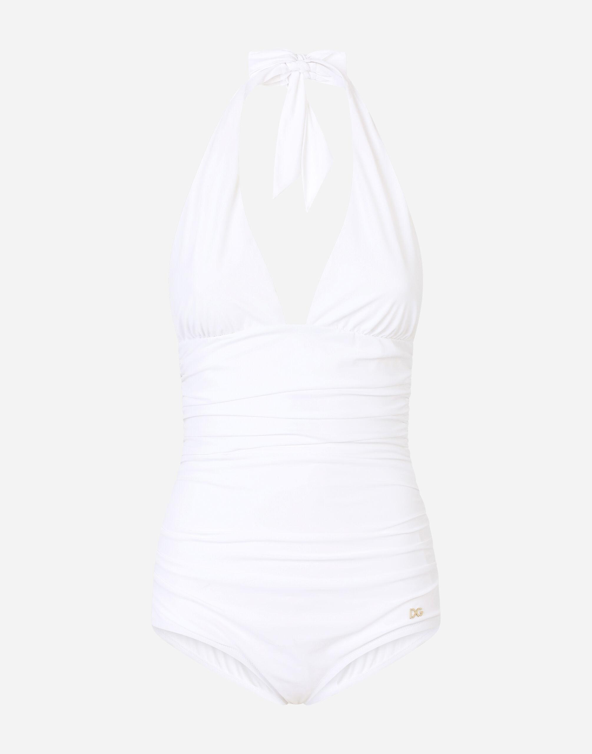 One-piece swimsuit with plunging neckline 2