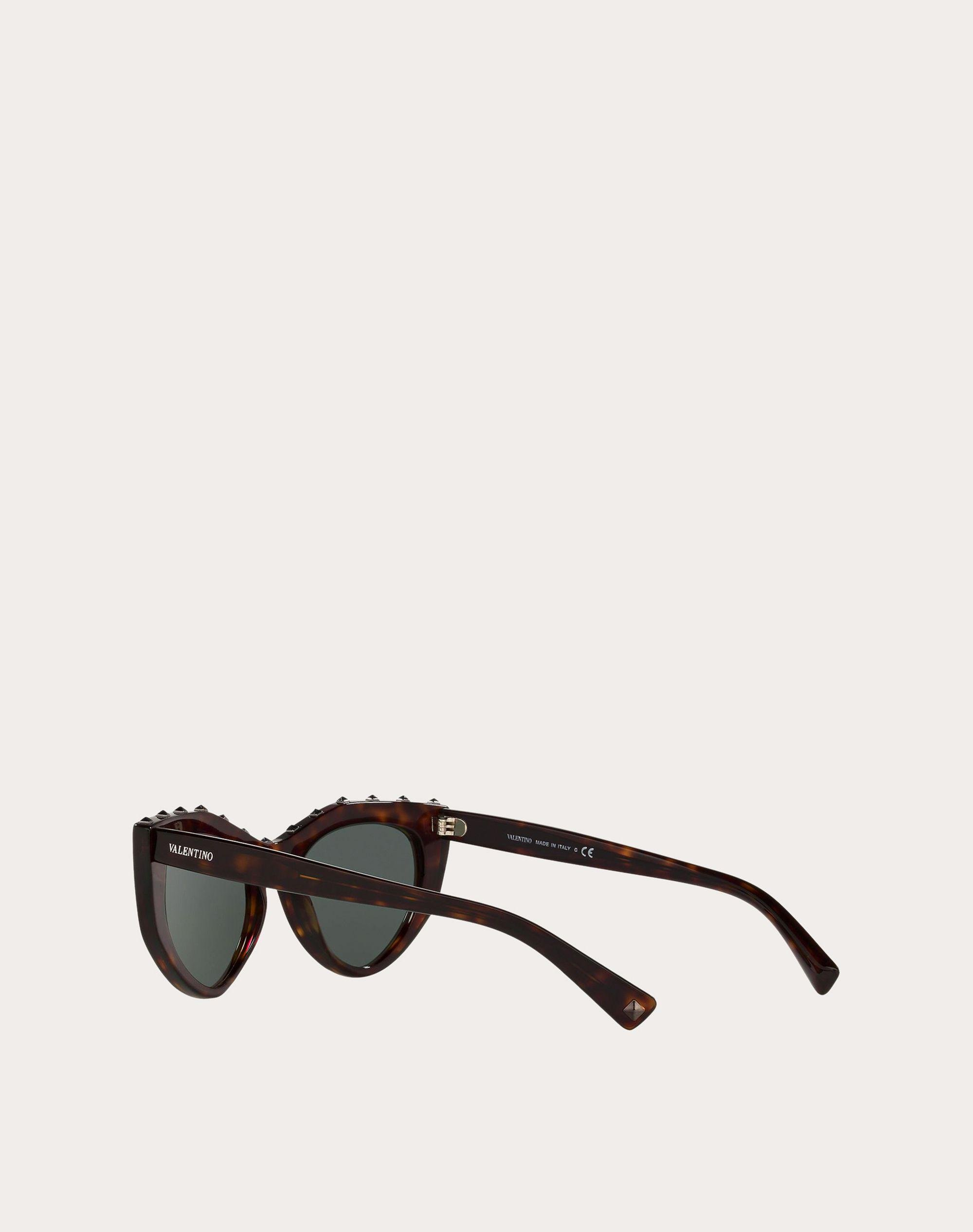 CAT-EYE ACETATE SUNGLASSES WITH STUDS 3