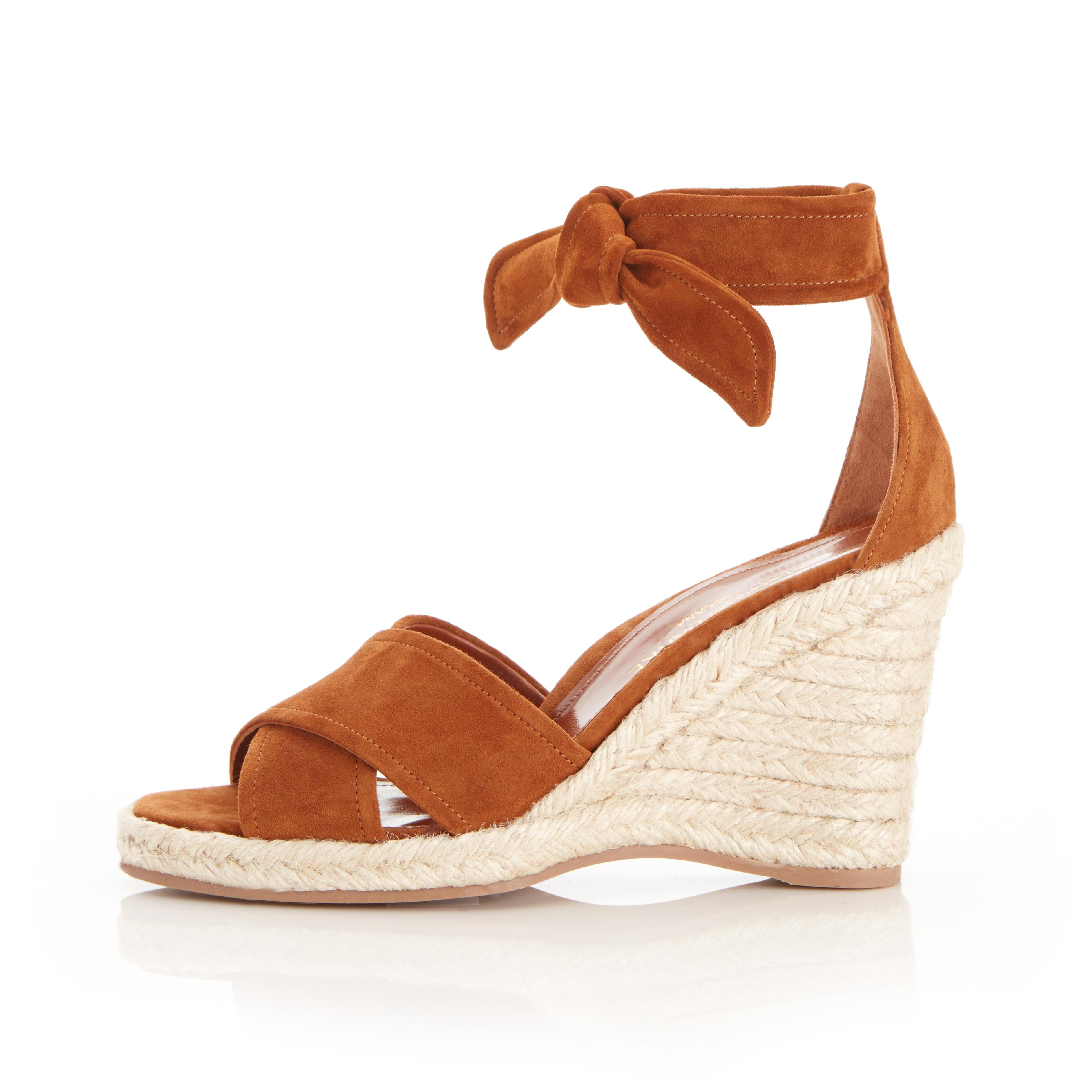 Leah Wedge | Suede Espadrille Style Sandal