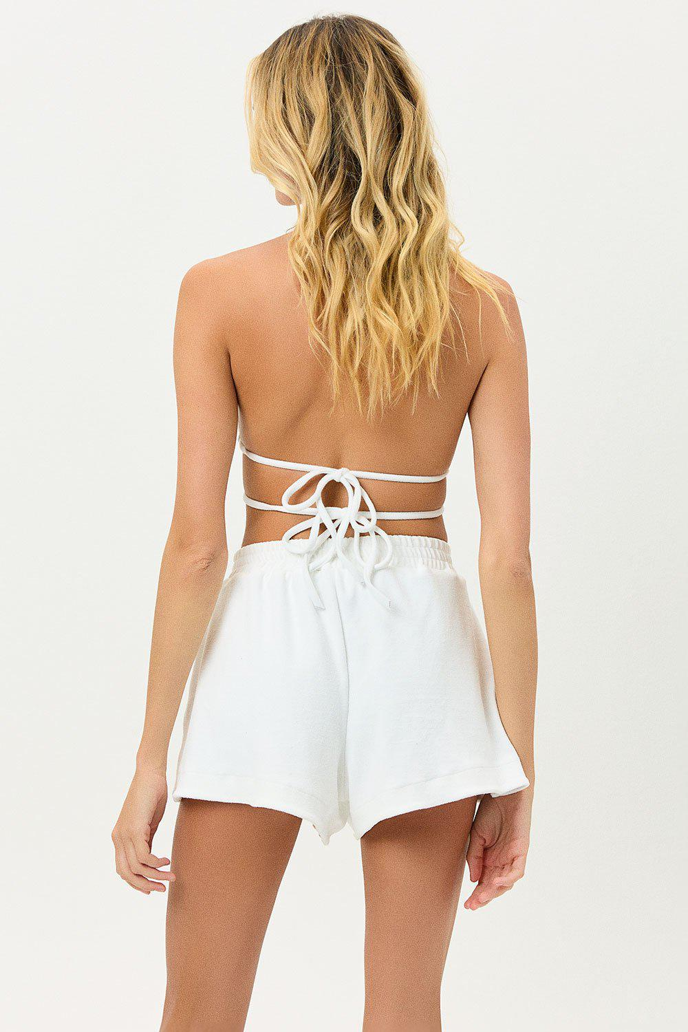 Coco Terry Shorts - White