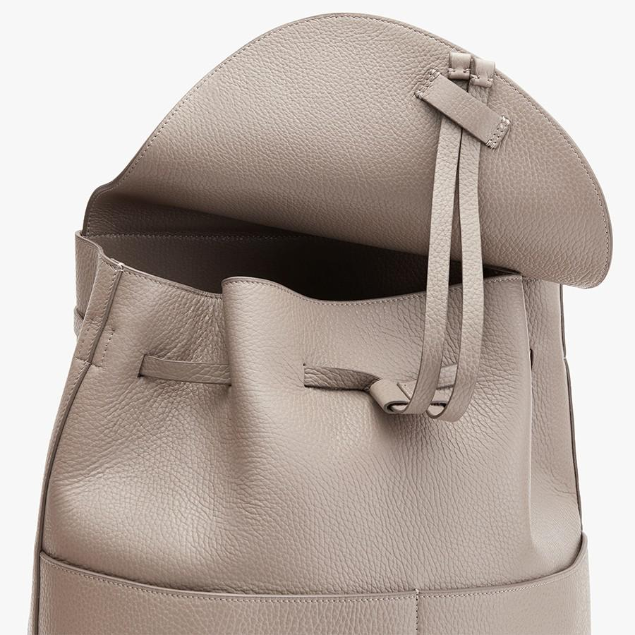 Women's Large Leather Backpack in Stone | Pebbled Leather by Cuyana 1