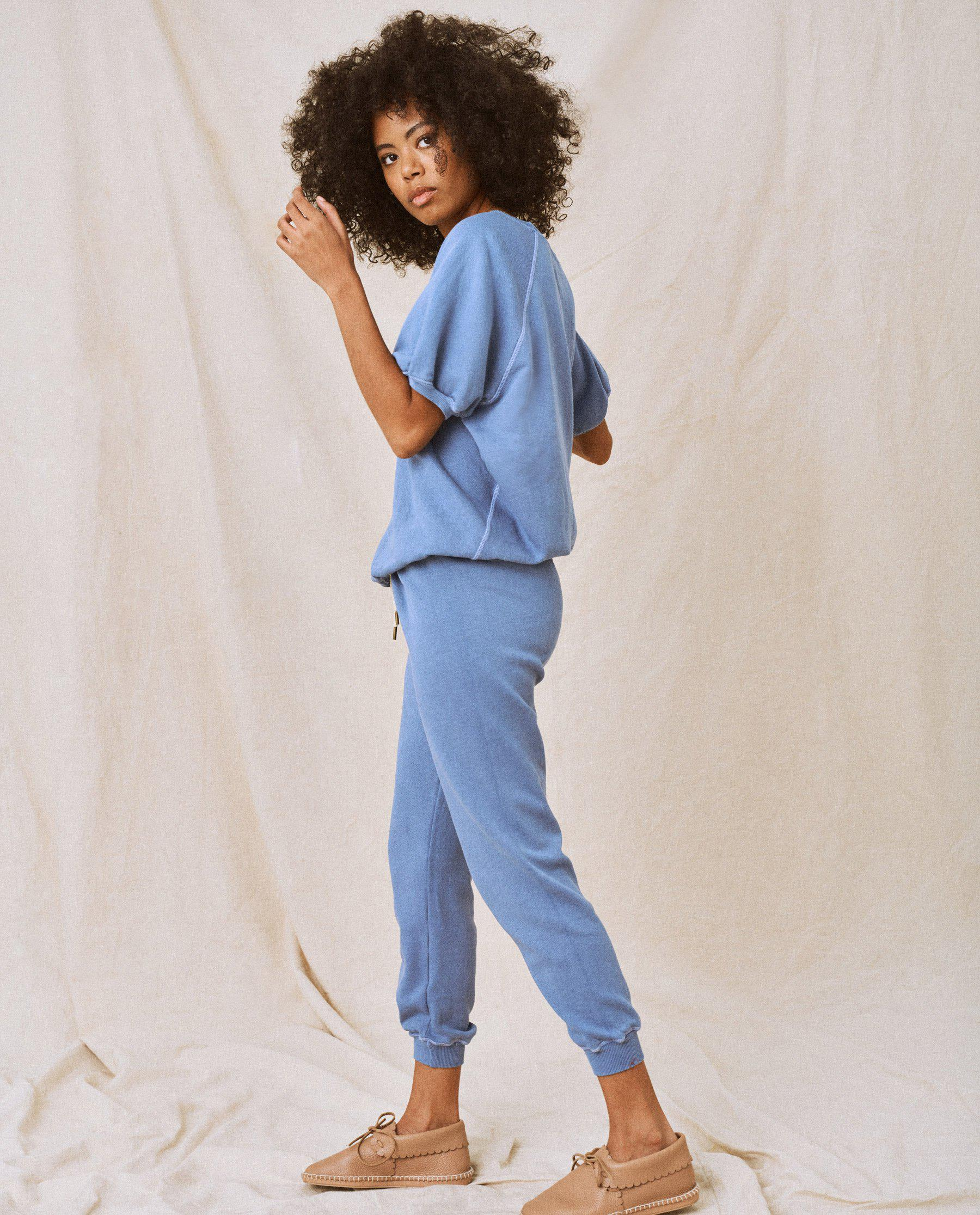 The Cropped Sweatpant. Solid -- Dutch Blue 1