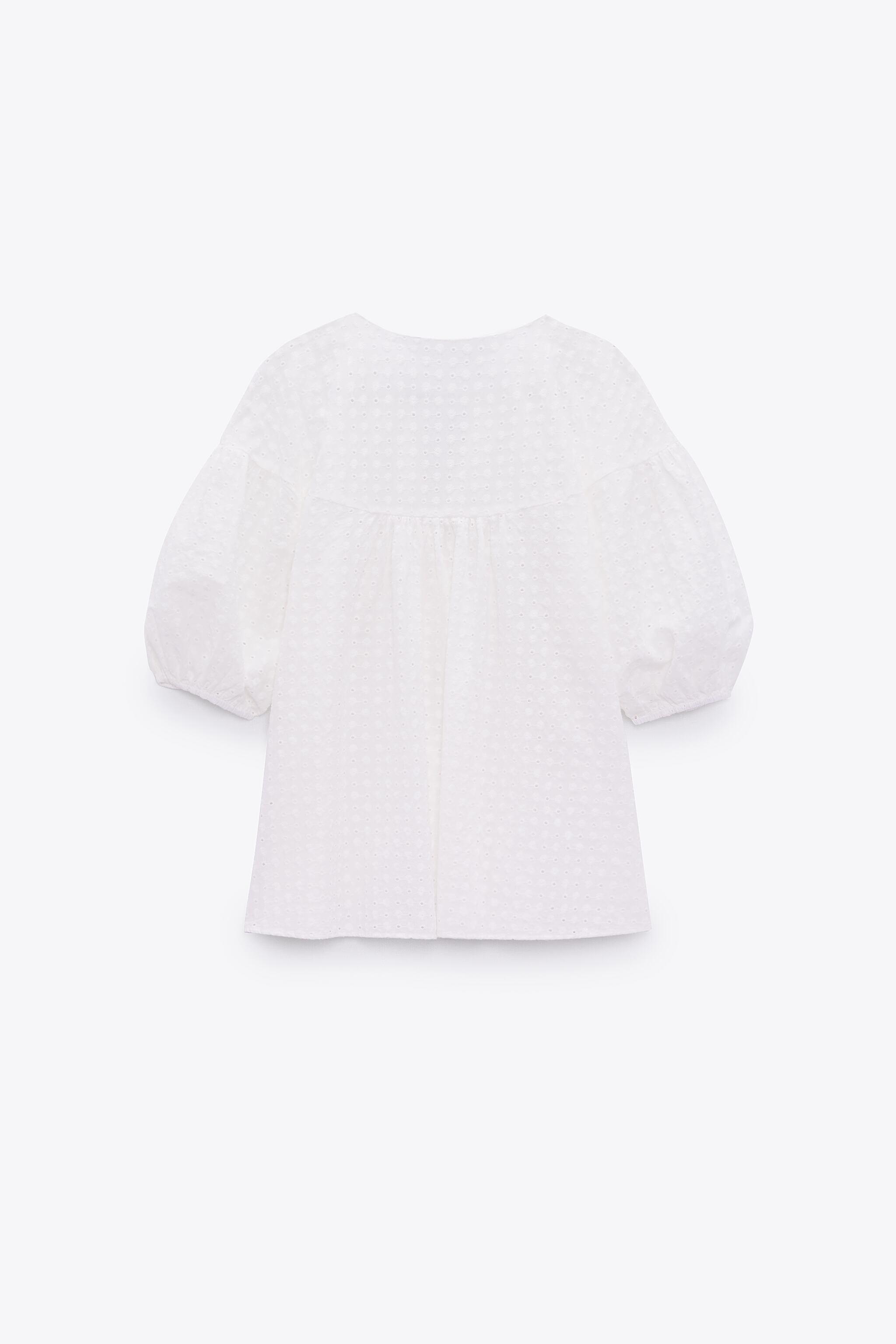 EMBROIDERED EYELET BLOUSE 4