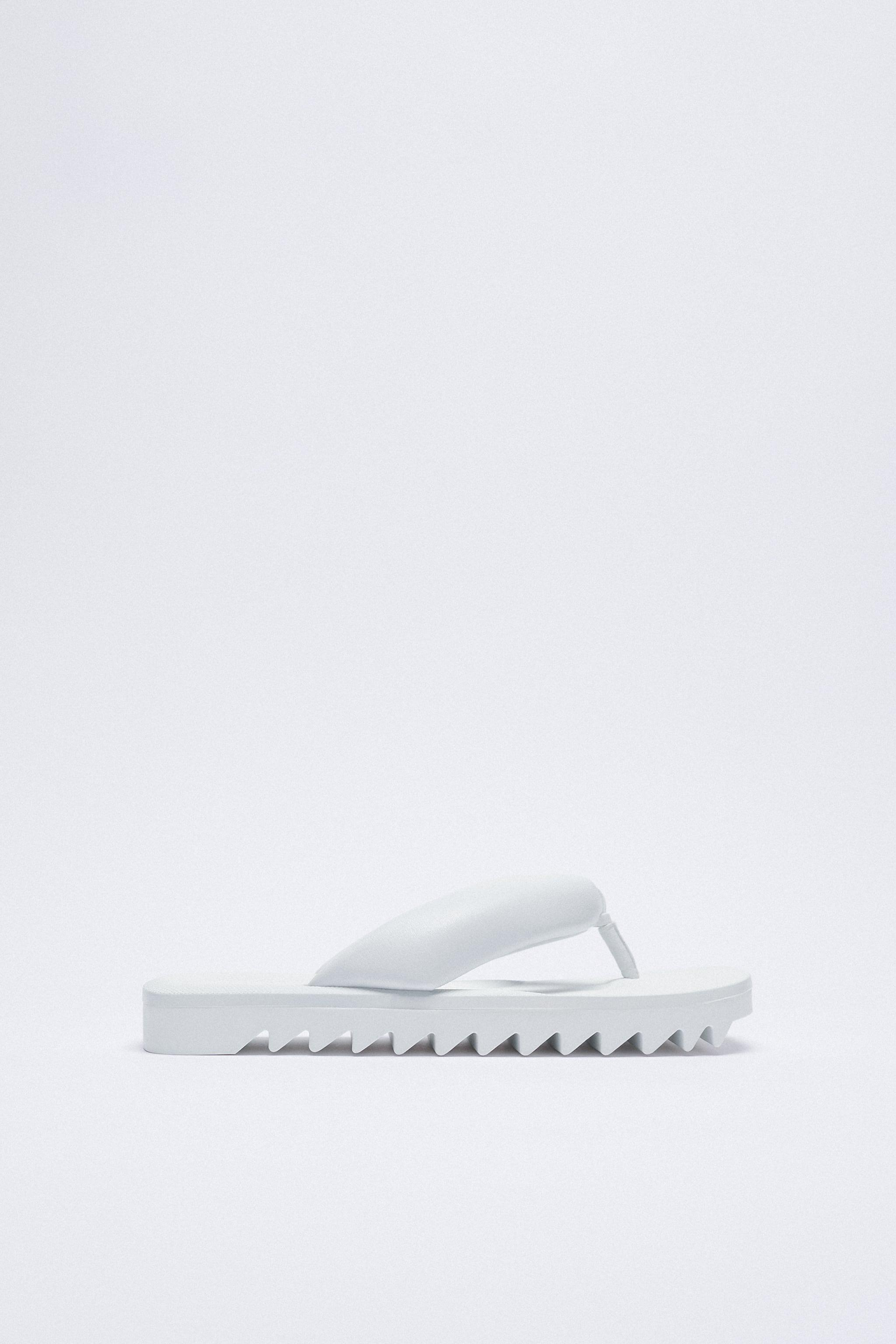 FLAT PADDED LEATHER SANDALS 4