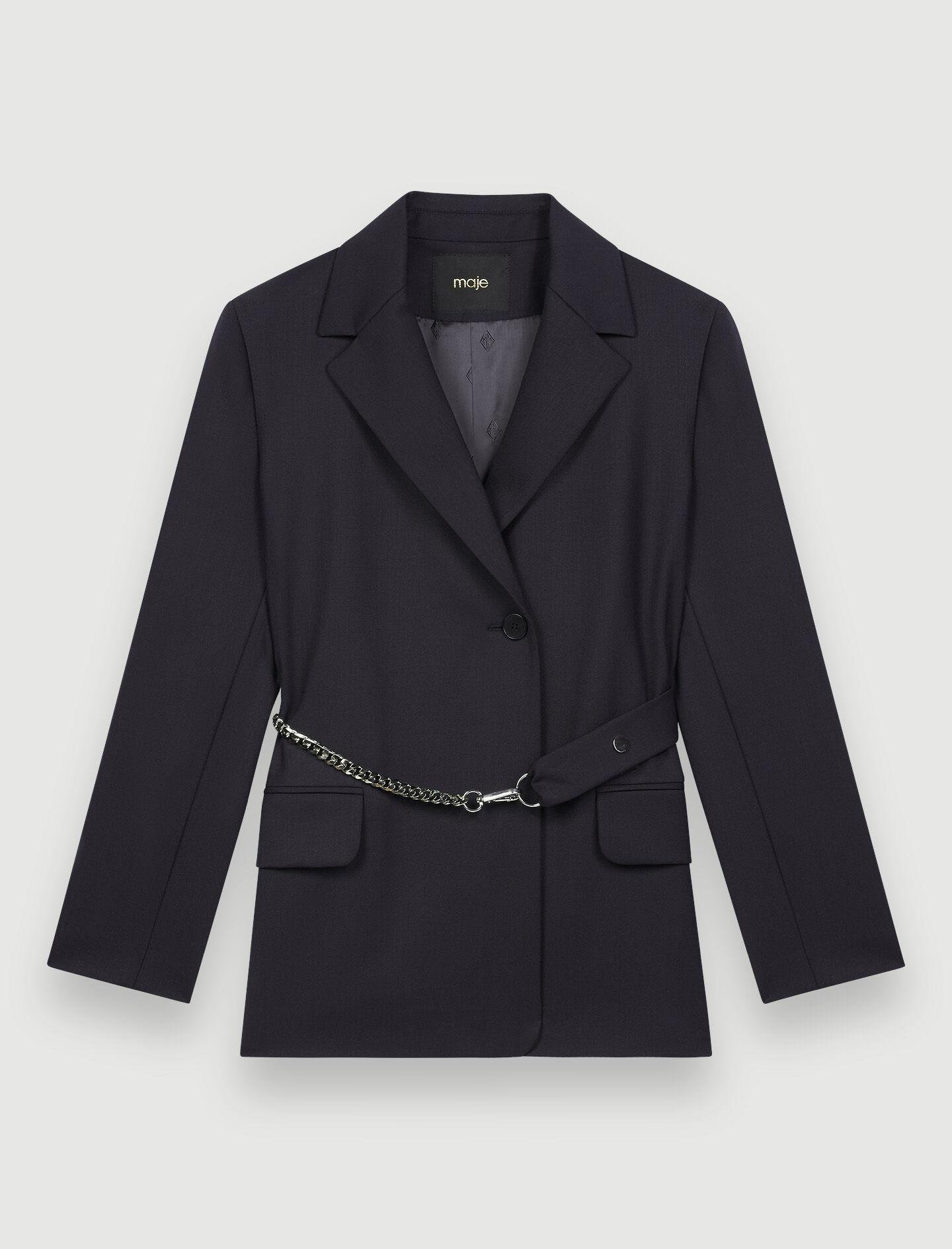 TAILORED JACKET WITH CHAIN BELT 4