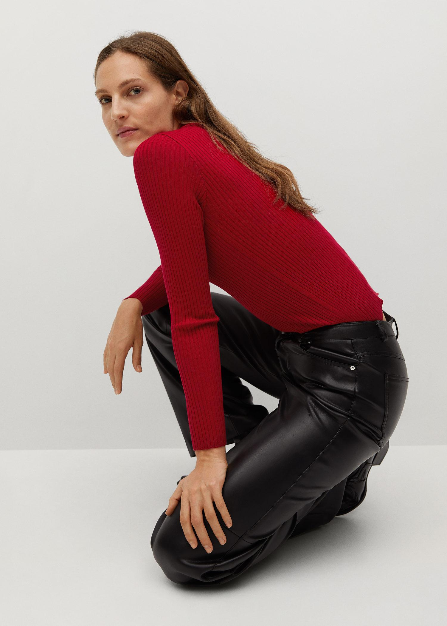 Ribbed sweater with zipper 5