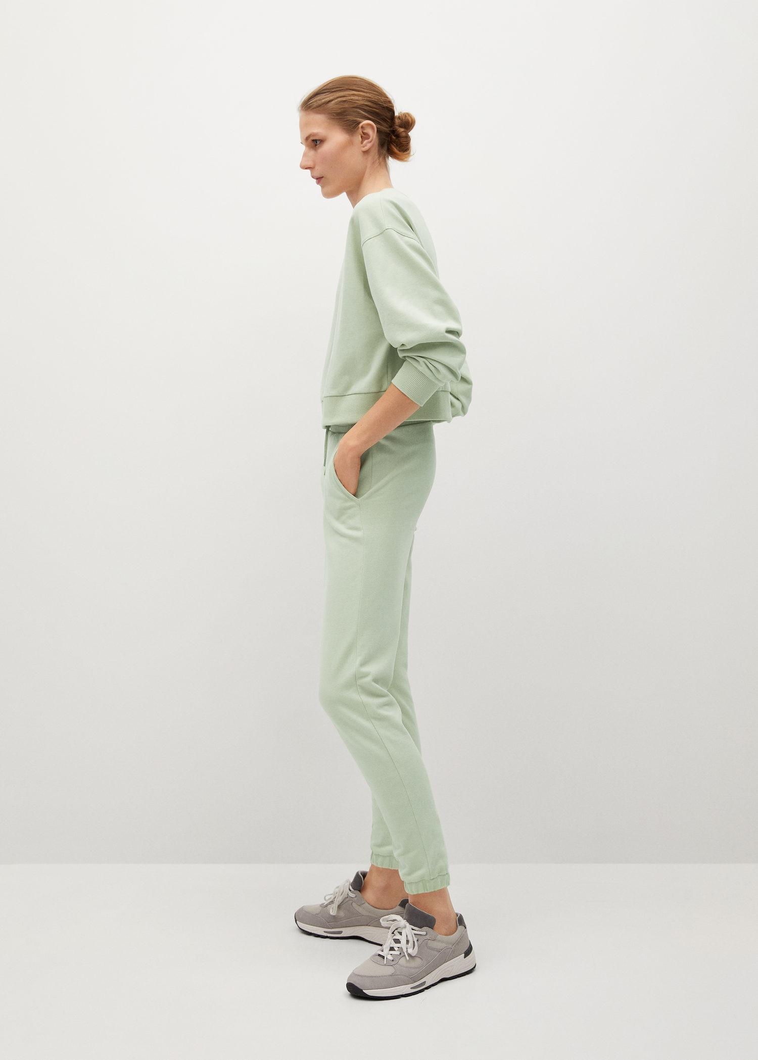 Cotton jogger-style trousers 4