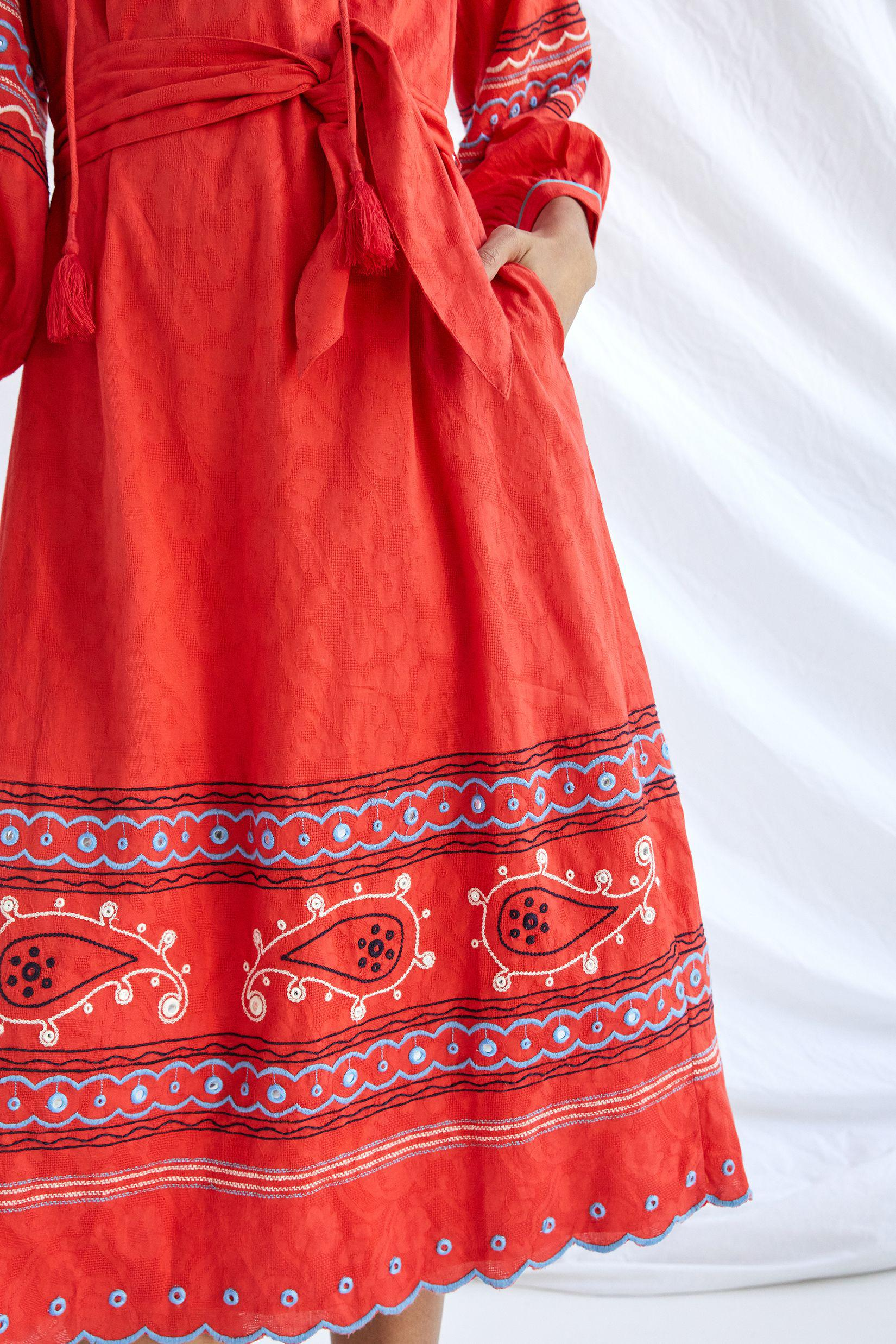 Scarlet Puff-Sleeved Maxi Dress 3