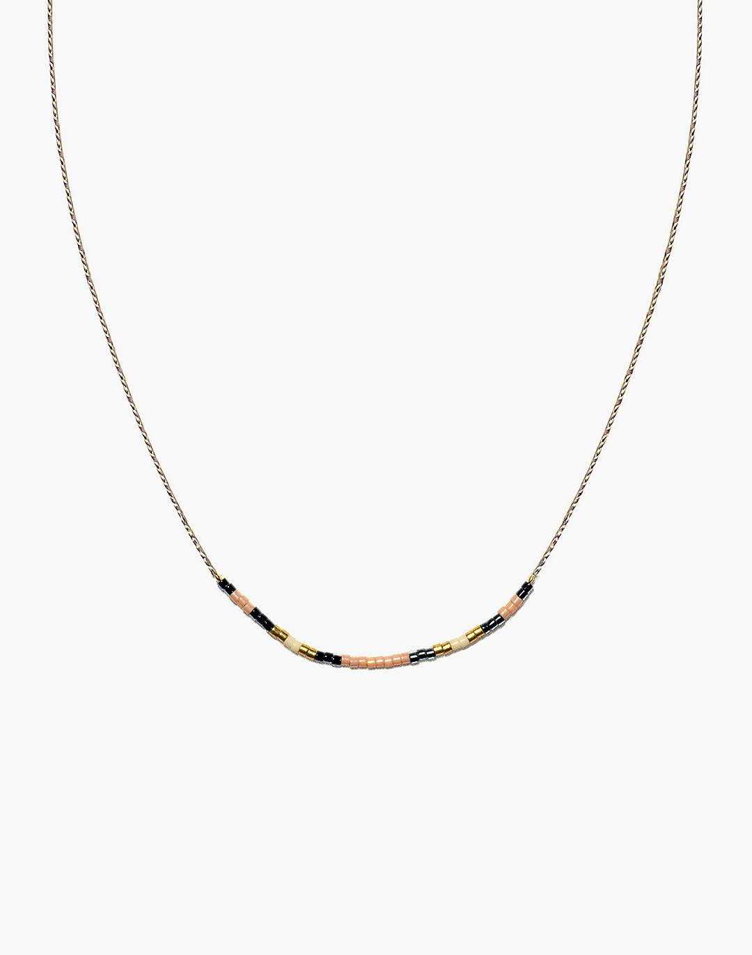 Cast of Stones Beaded Intention Necklace in Peach Multicolor