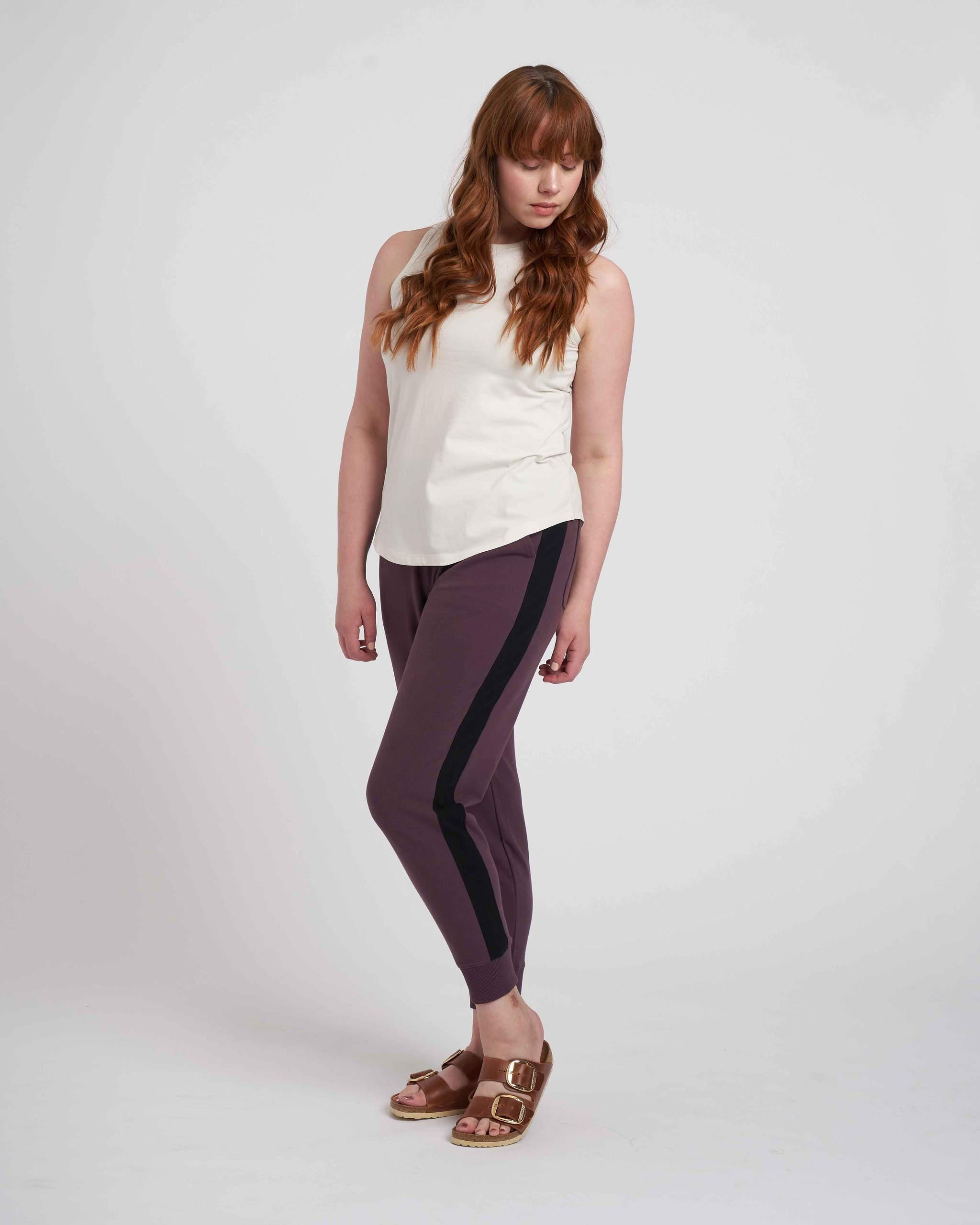 Hollie Brushed Terry Striped Jogger 4