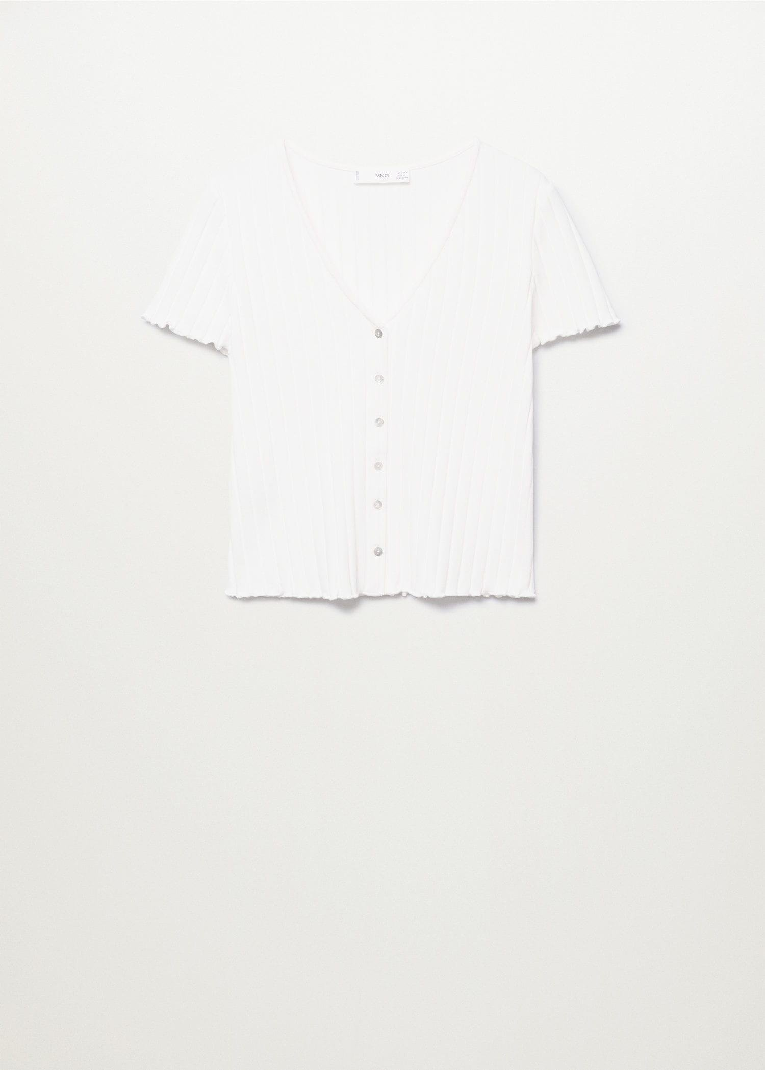 Buttoned ribbed t-shirt 8
