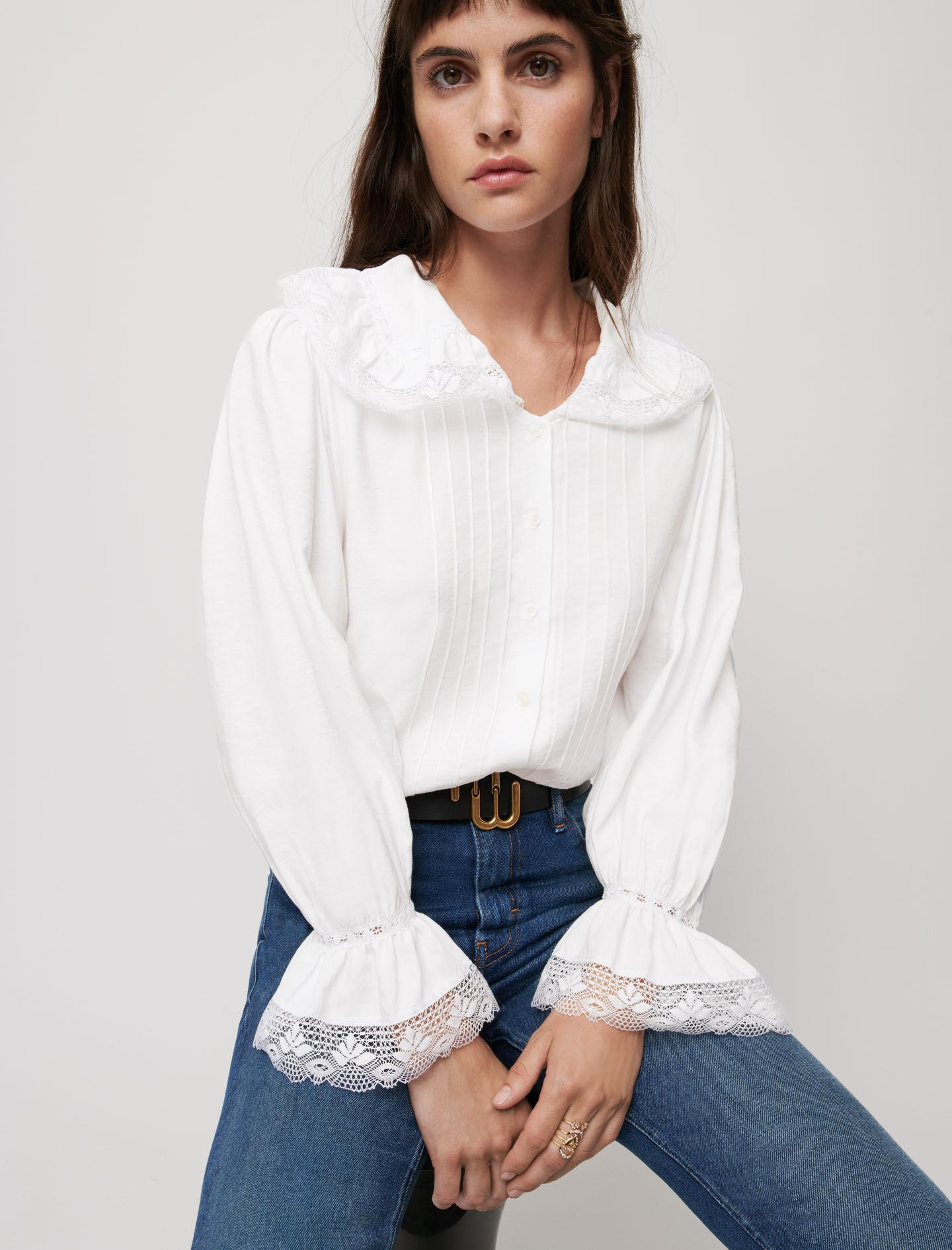 VEIL AND LACE SHIRT