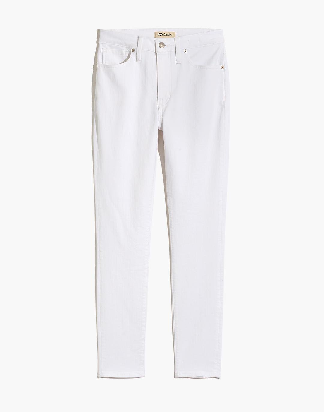 """9"""" Mid-Rise Skinny Crop Jeans in Pure White 5"""