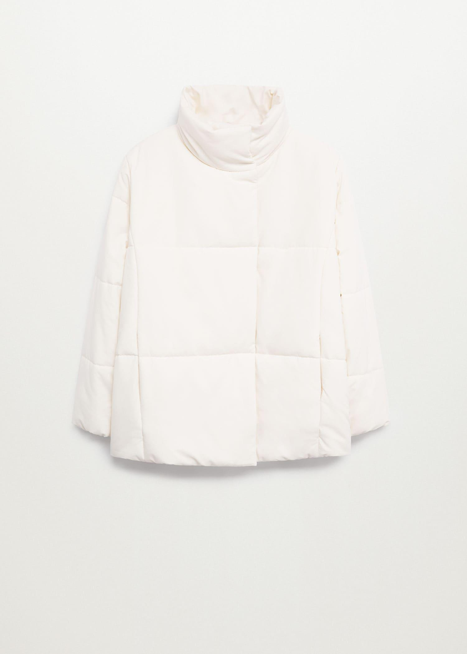 Long collar quilted coat 6