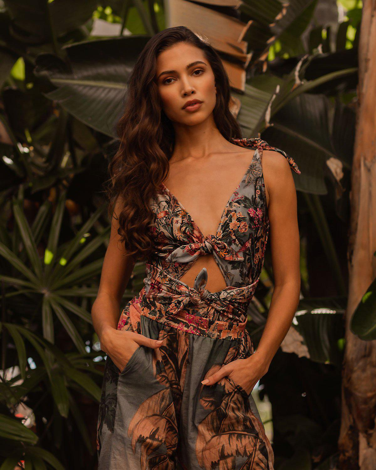 Paraiso Knotted One Piece