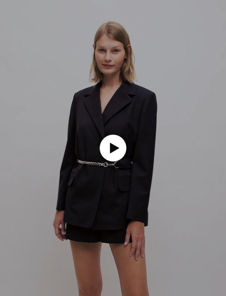 TAILORED JACKET WITH CHAIN BELT 3