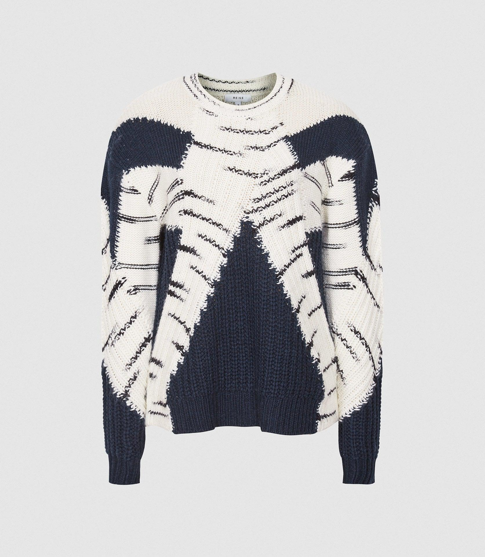 TIFFANY - COLOUR BLOCK KNITTED JUMPER 4