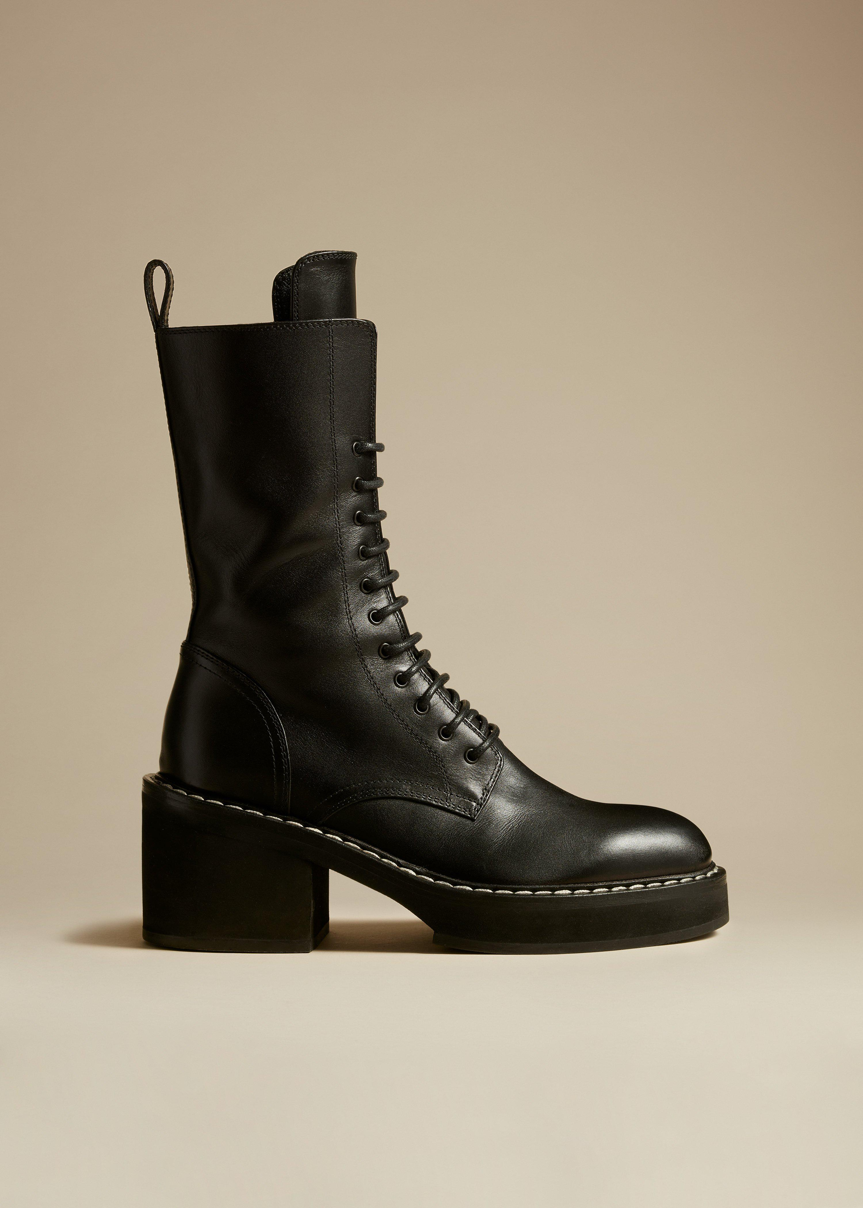 The Cody Boot in Black Leather