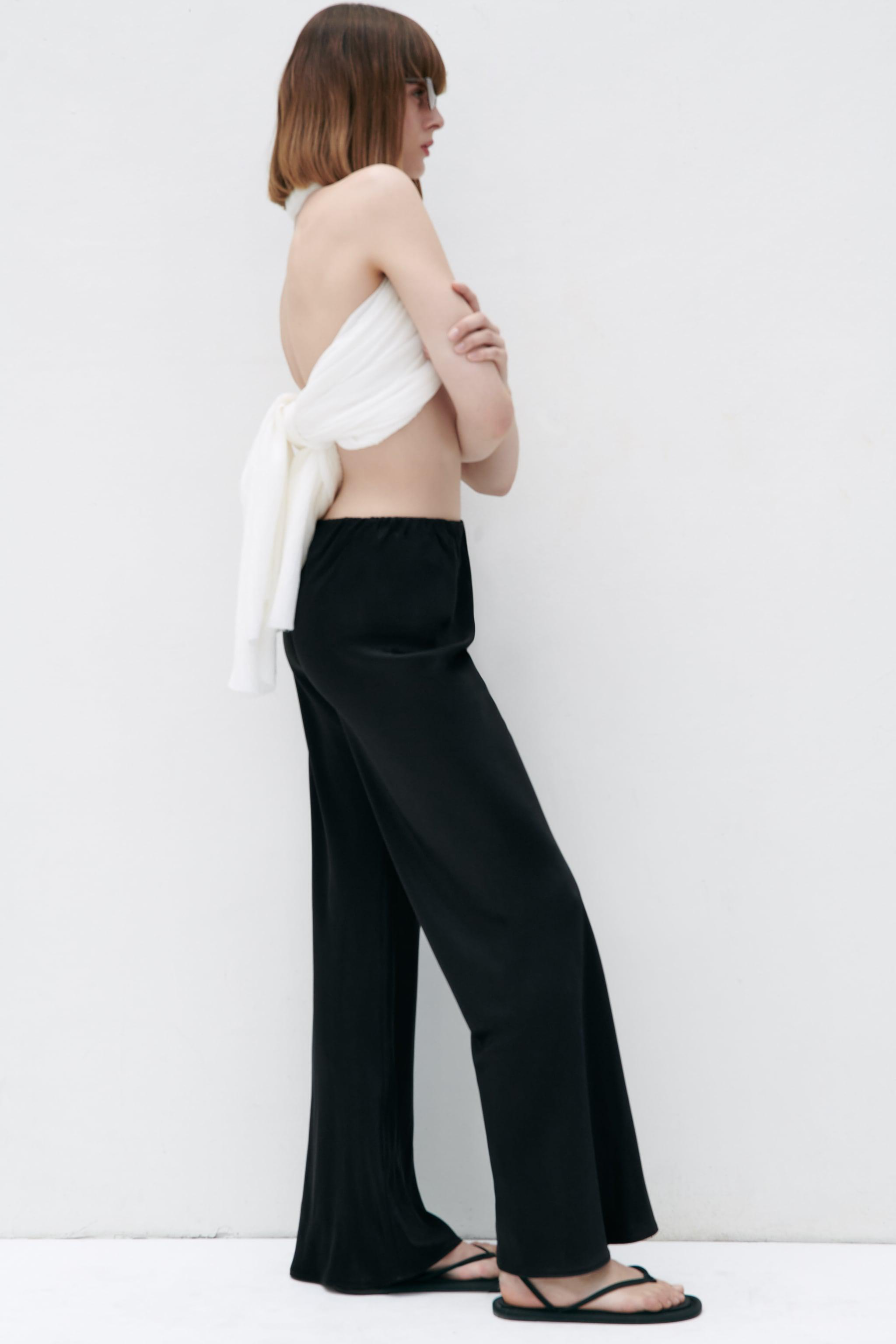 FLARED SATIN EFFECT PANTS 3