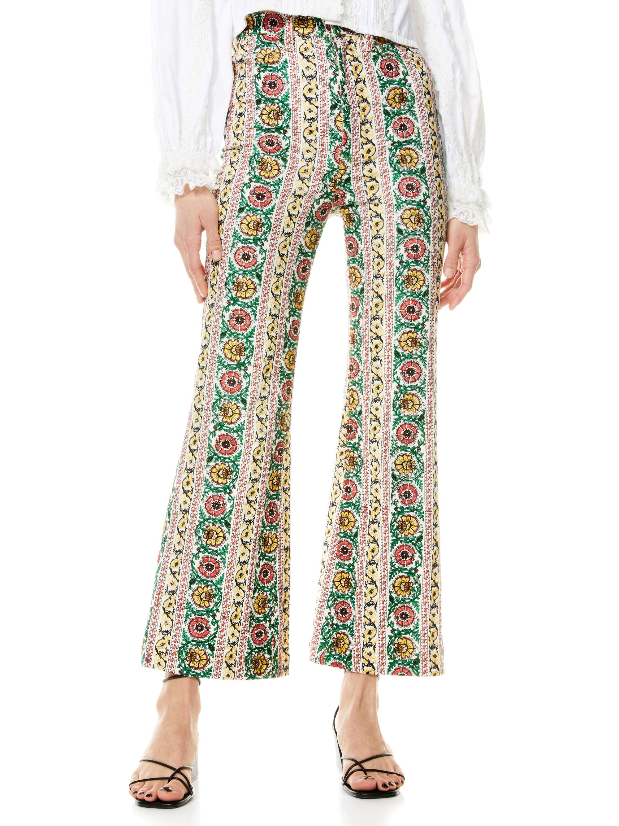 BENEDICT EMBROIDERED FLARE PANT