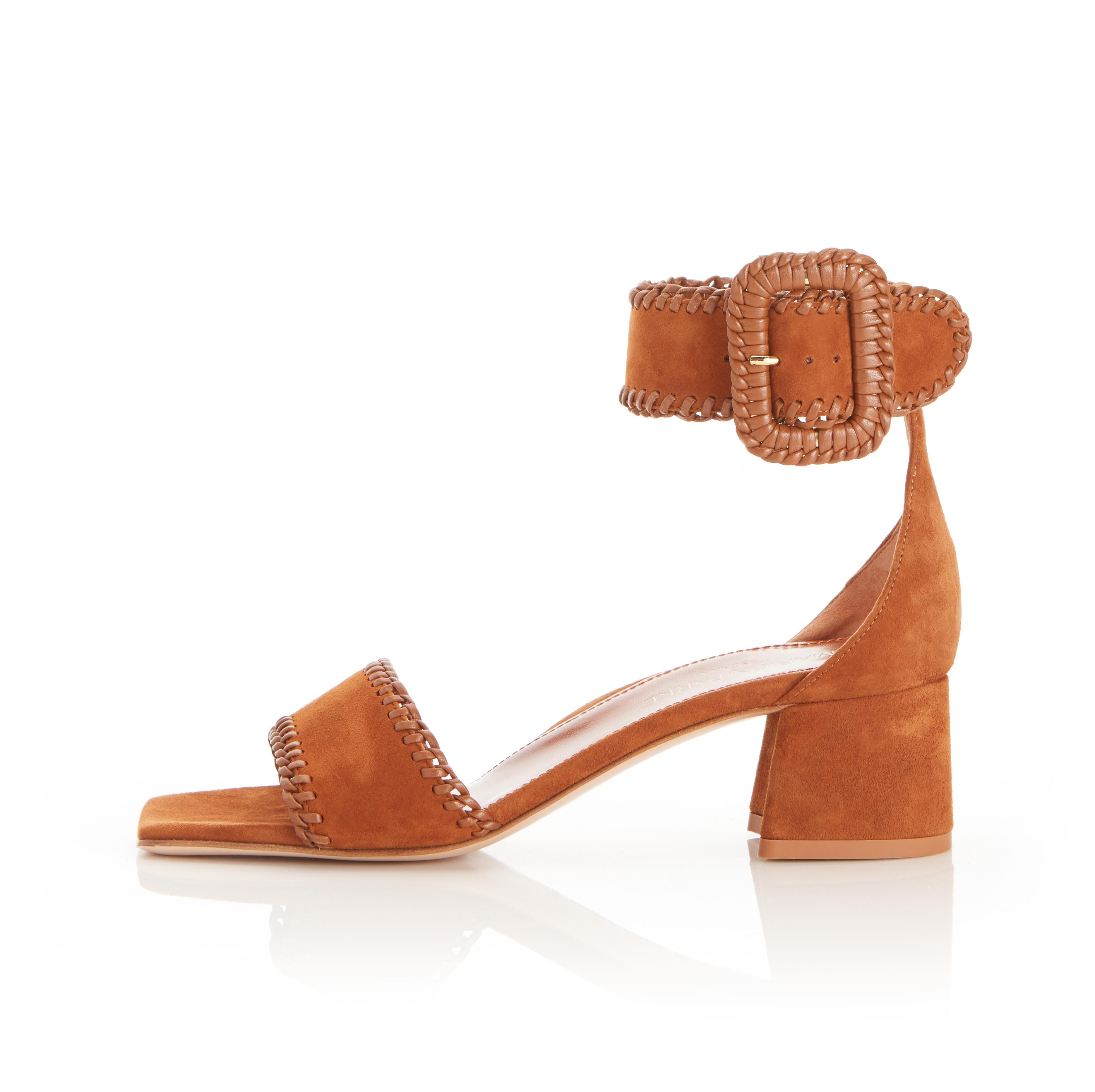 Isabelle | Suede Sandal With Block Heel