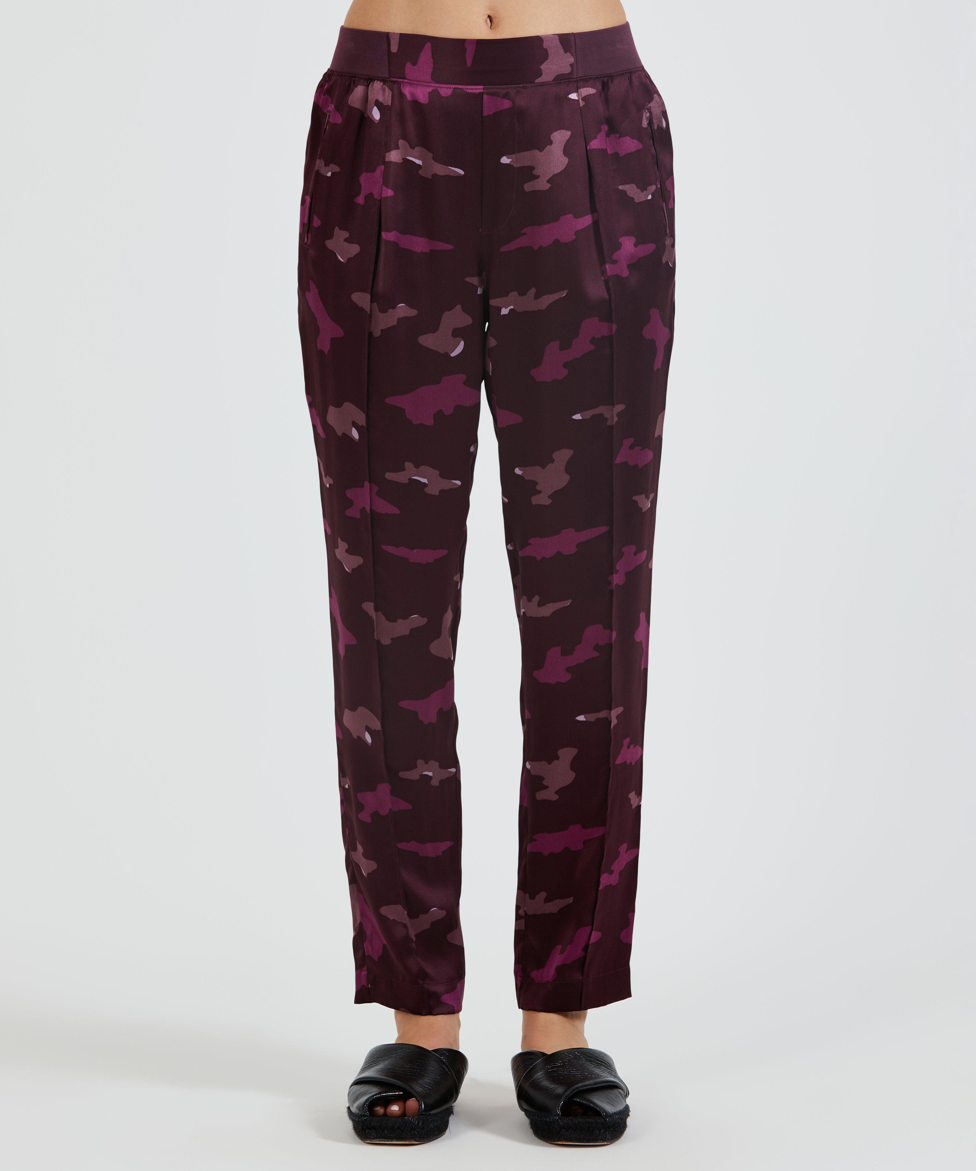 Silk Pull-On Pant - Abstract Camo