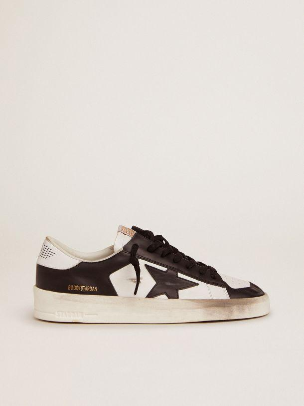 Stardan sneakers in black and white leather