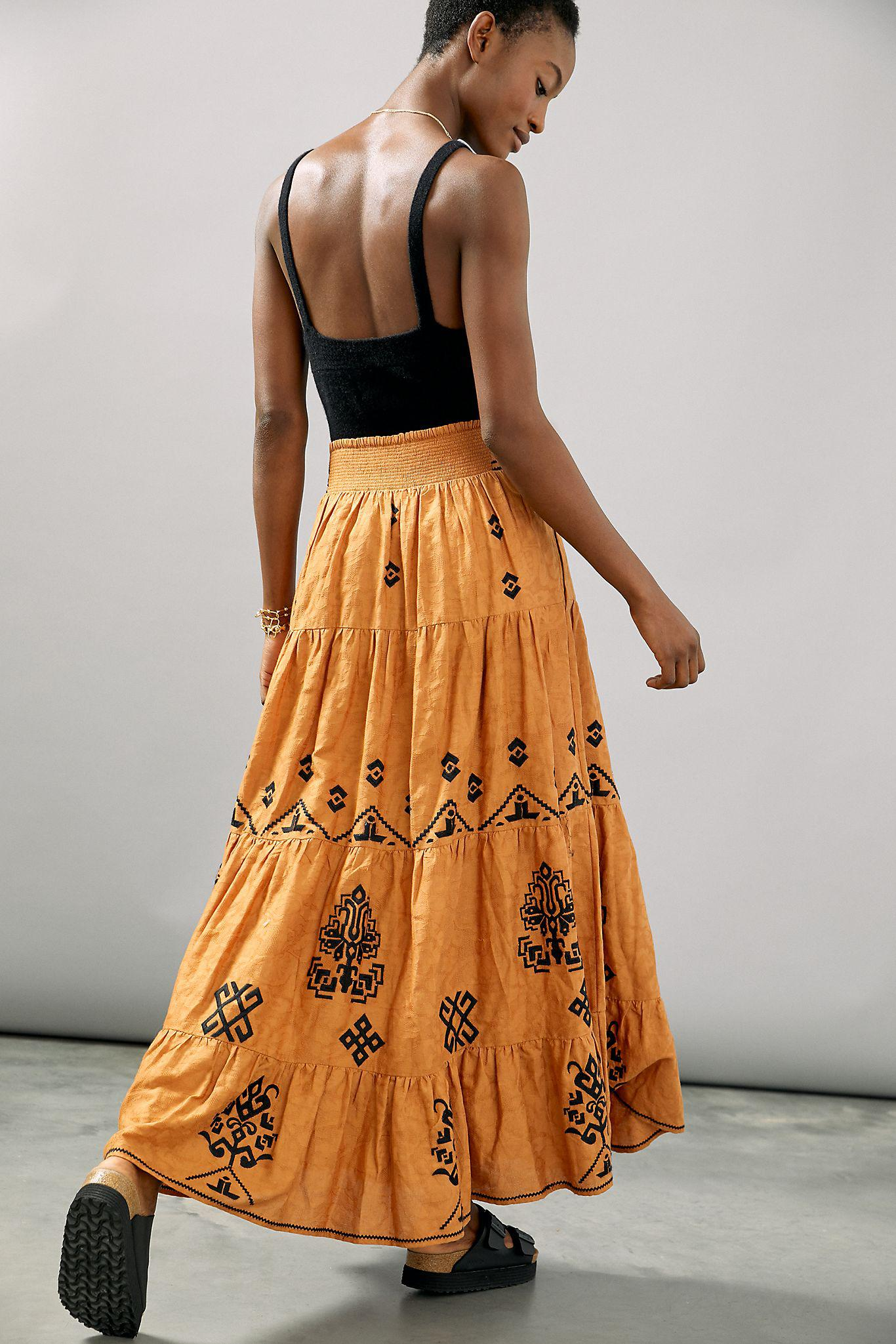 Mitra Embroidered Maxi Skirt