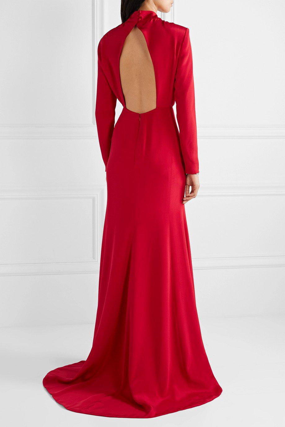 CREPE KEYHOLE GOWN 2