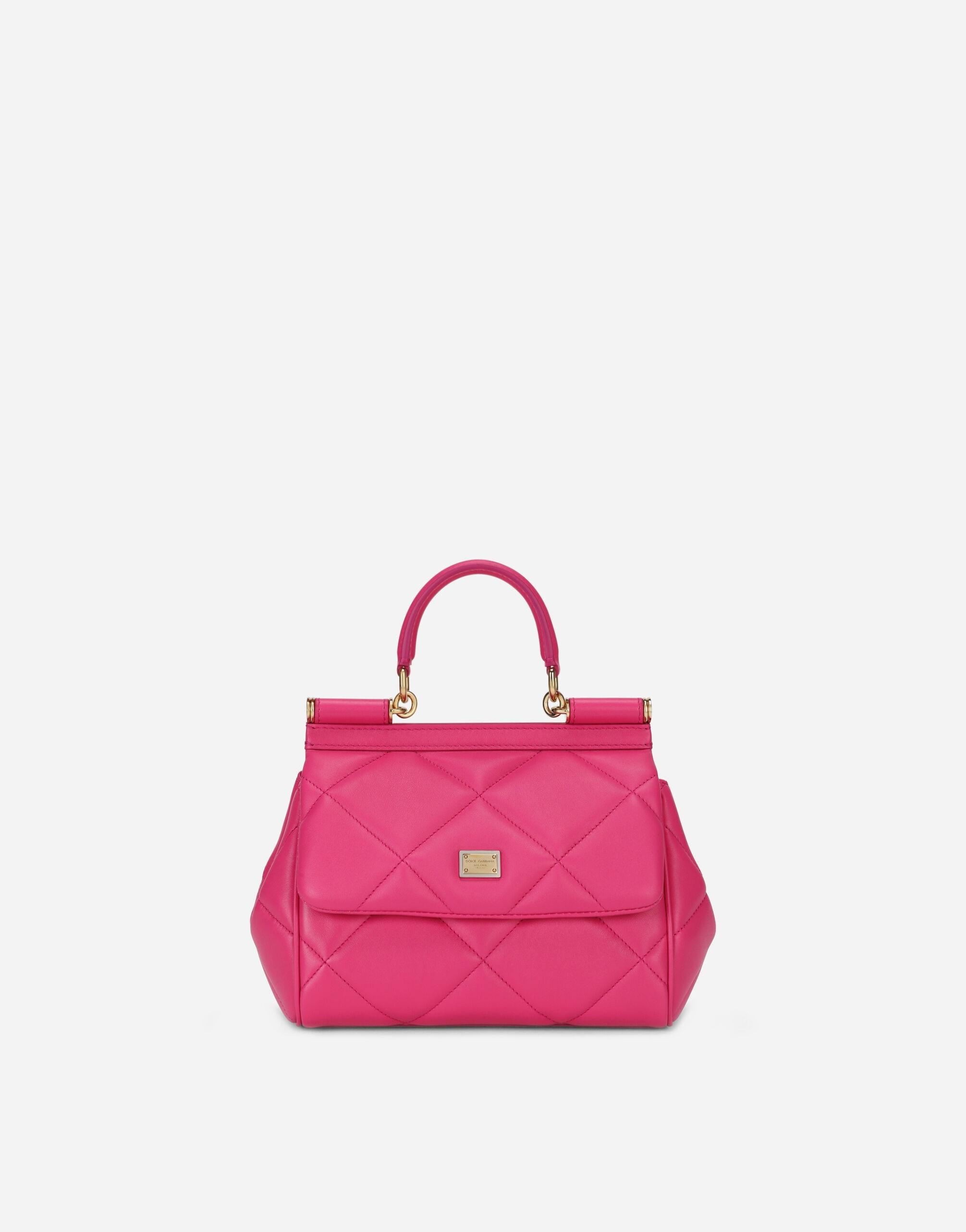 Small Sicily bag in quilted Aria calfskin