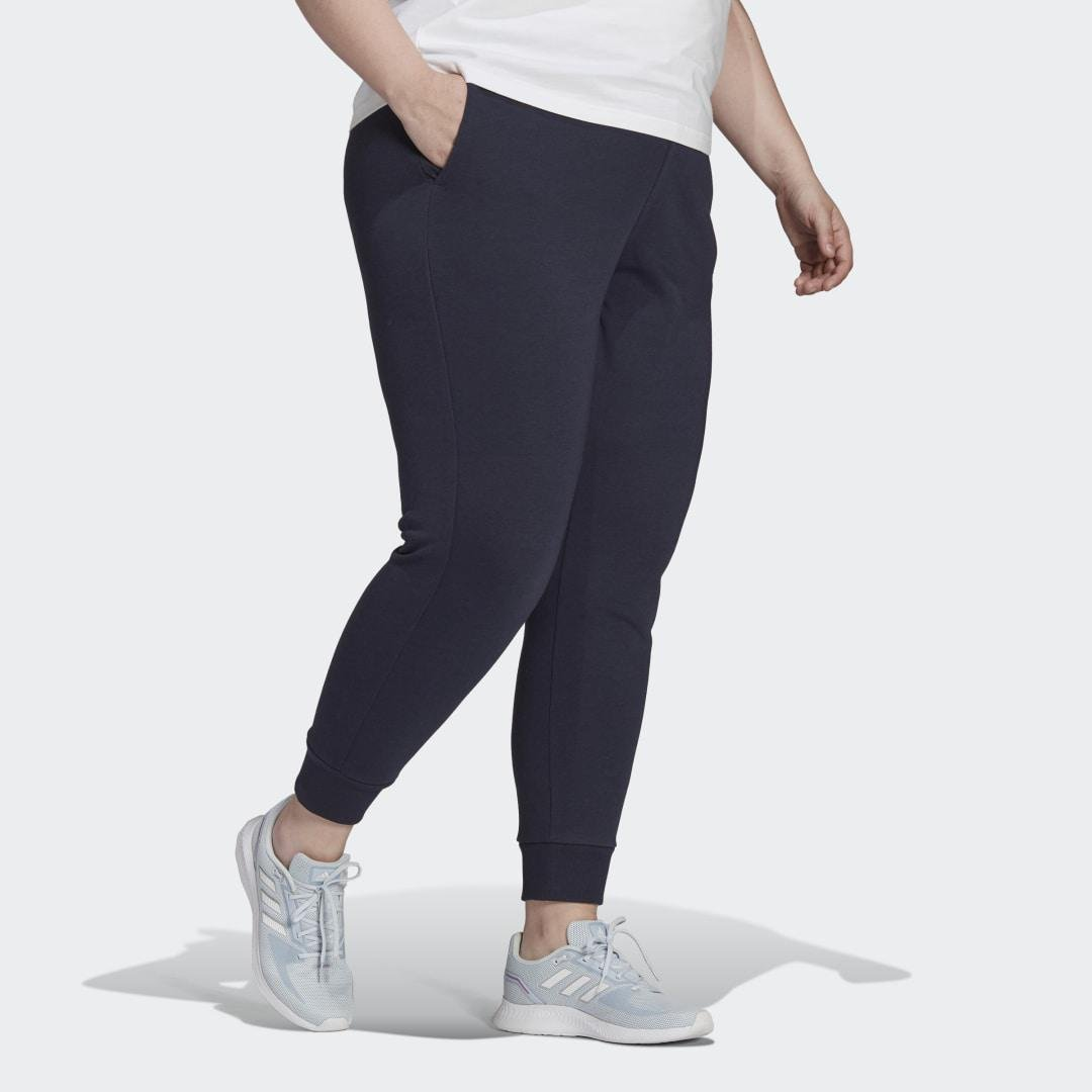 Essentials French Terry Logo Pants (Plus Size) Dark Blue 3