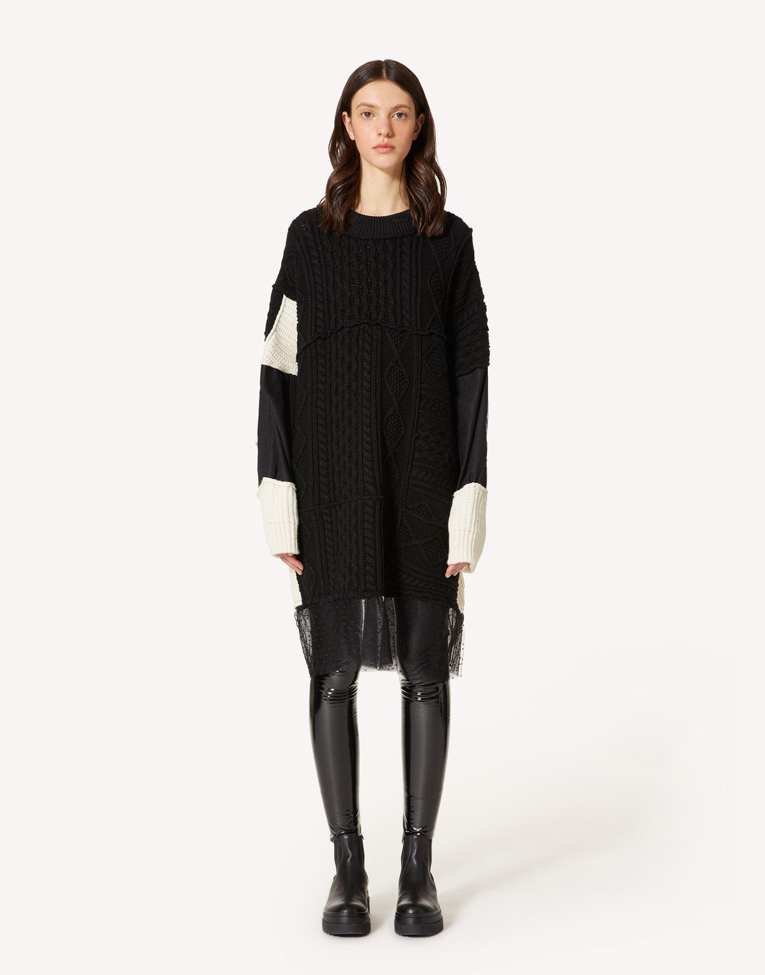 """""""THE BLACK TAG"""" - WOOL KNIT DRESS WITH RED WRITING"""