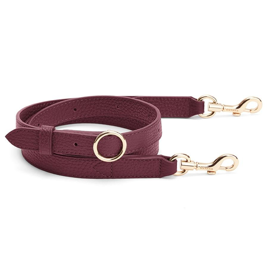 Women's Adjustable Strap in Merlot | Pebbled Leather by Cuyana