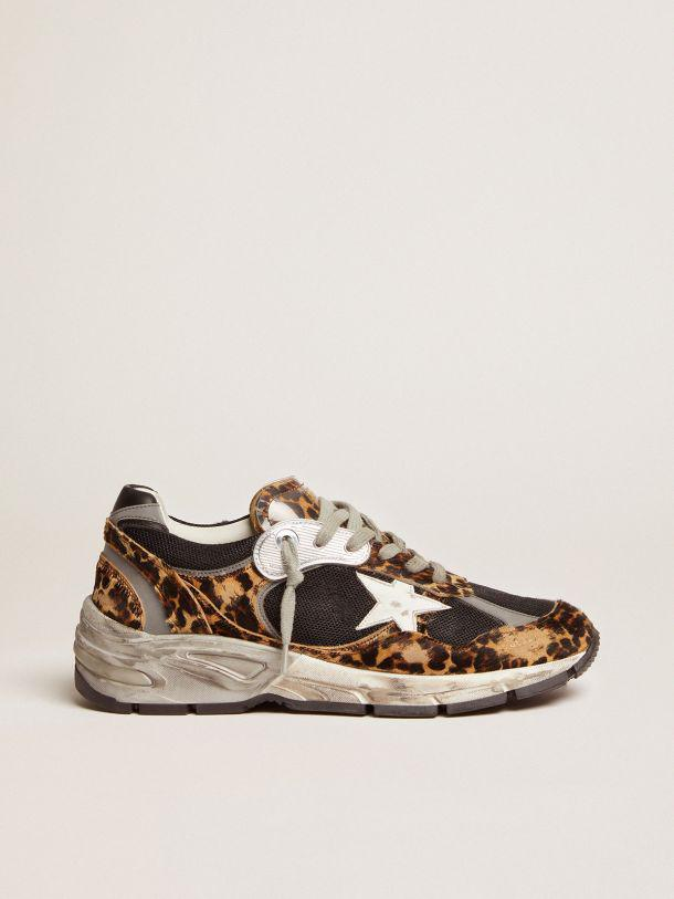 Dad-Star sneakers in leopard-print pony skin with white leather star