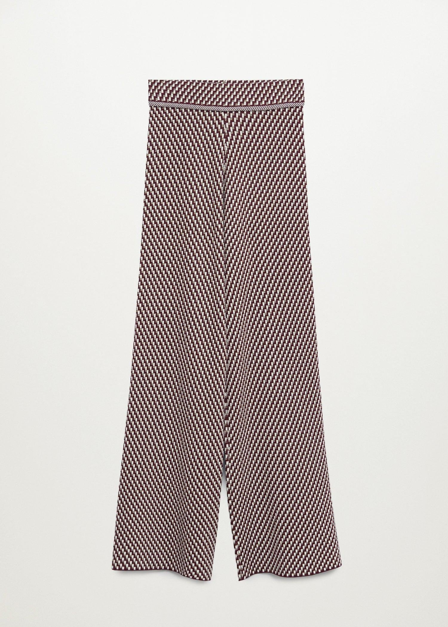Knitted pants with geometric print 7