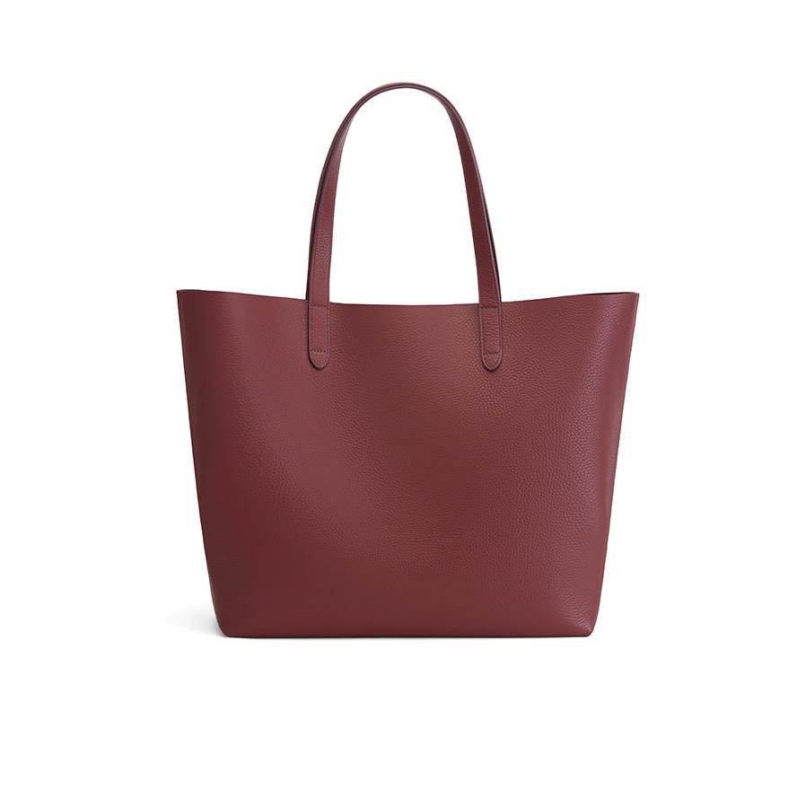 Women's Classic Leather Tote Bag in Merlot Painted | Pebbled Leather by Cuyana