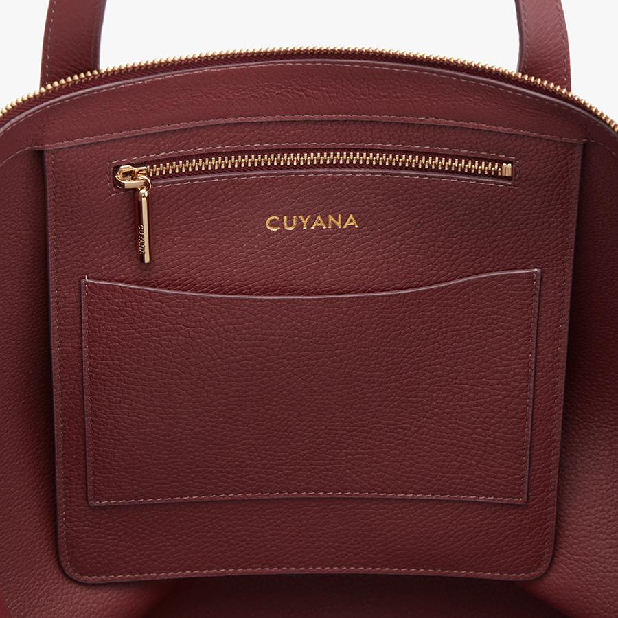 Women's Classic Leather Zipper Tote Bag in Merlot Painted | Pebbled Leather by Cuyana 1