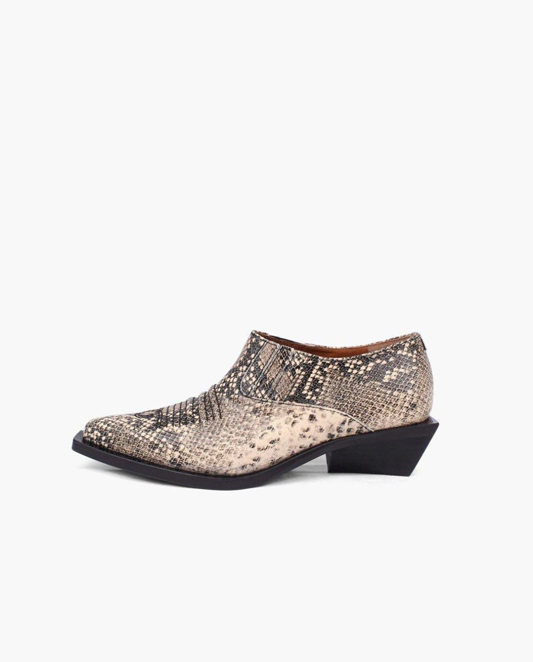 Dolores Brogues Leather Substitute Snake - SPECIAL PRICE