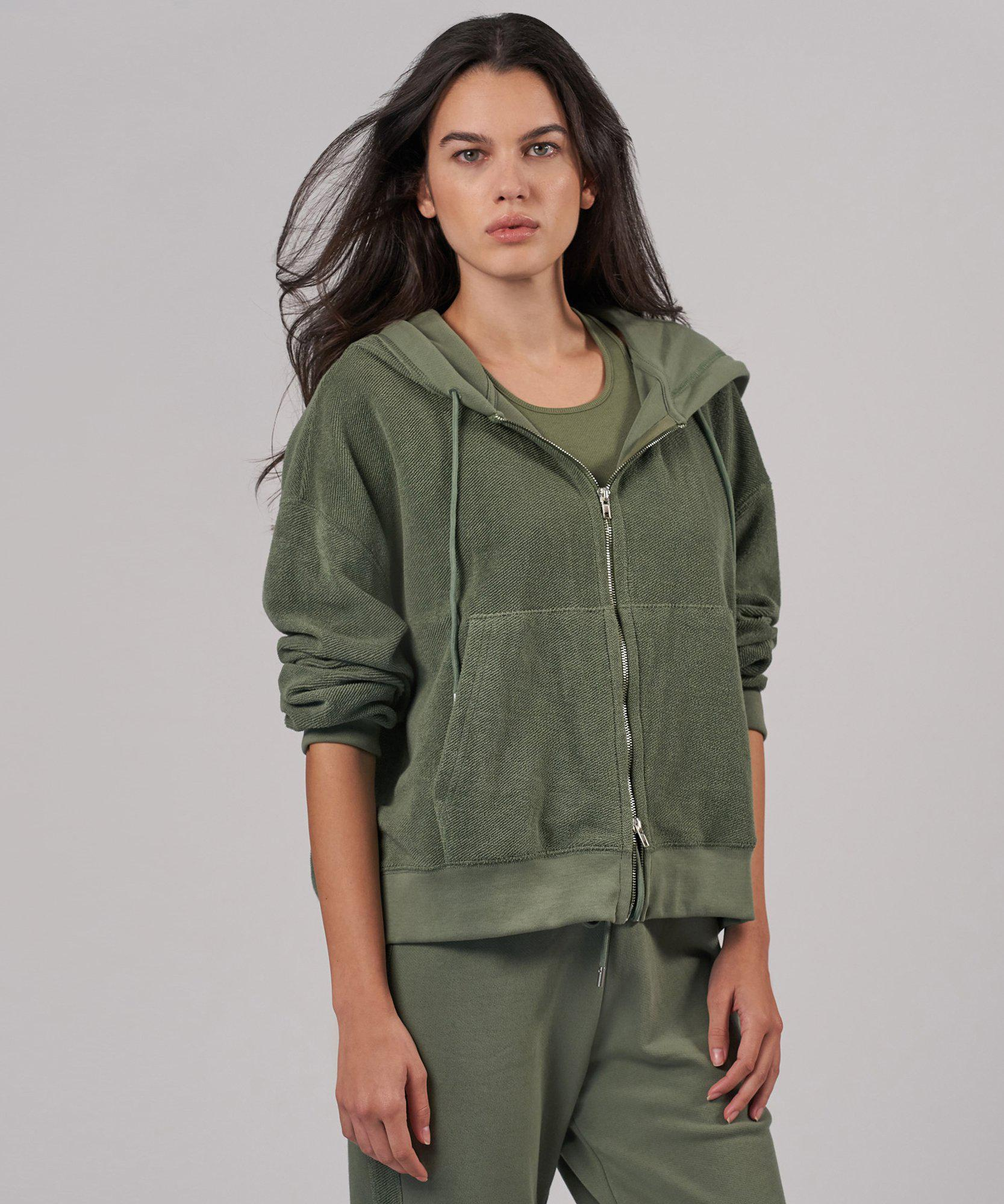 Reverse French Terry Zip Hoodie - Agave