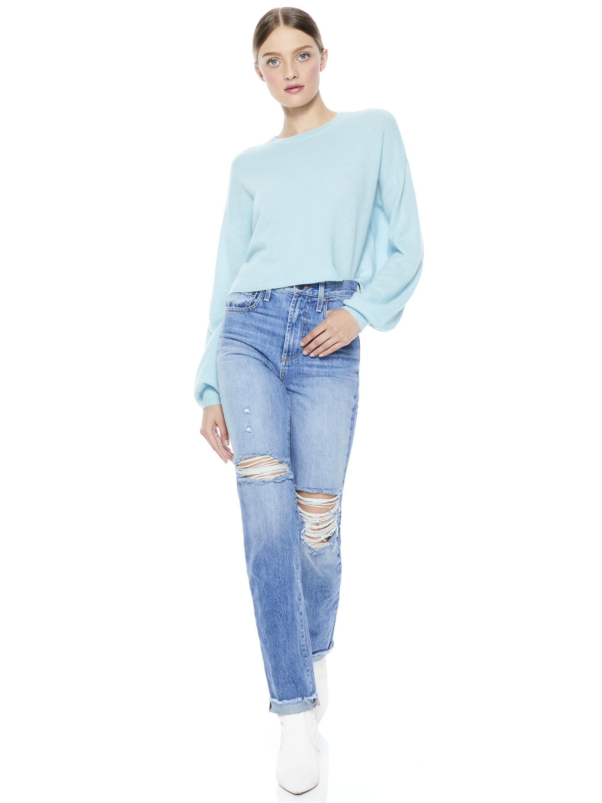 ANSLEY WIDE SLEEVE CROPPED SWEATER 2