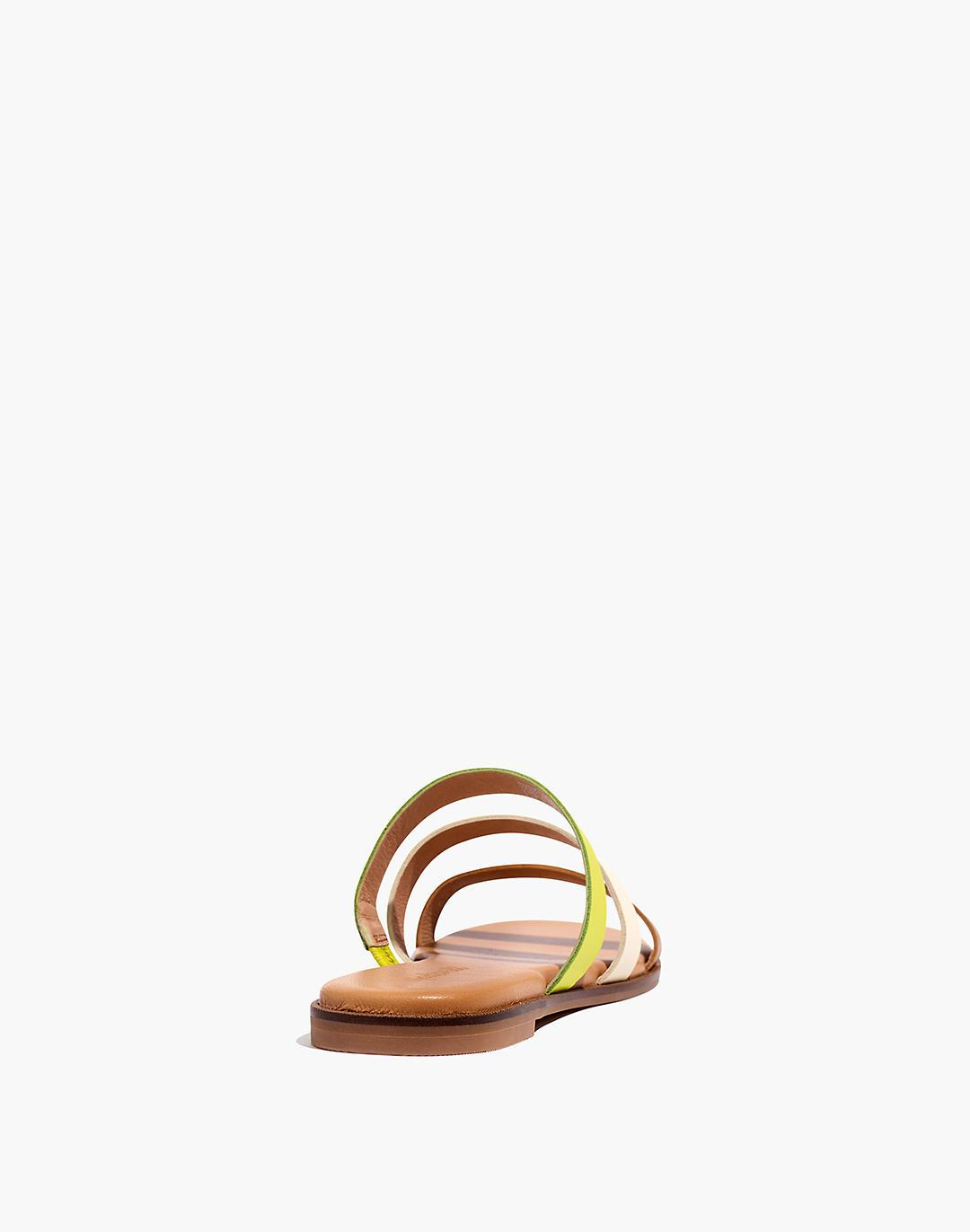 The Ilana Slide Sandal in Colorblock Leather 2