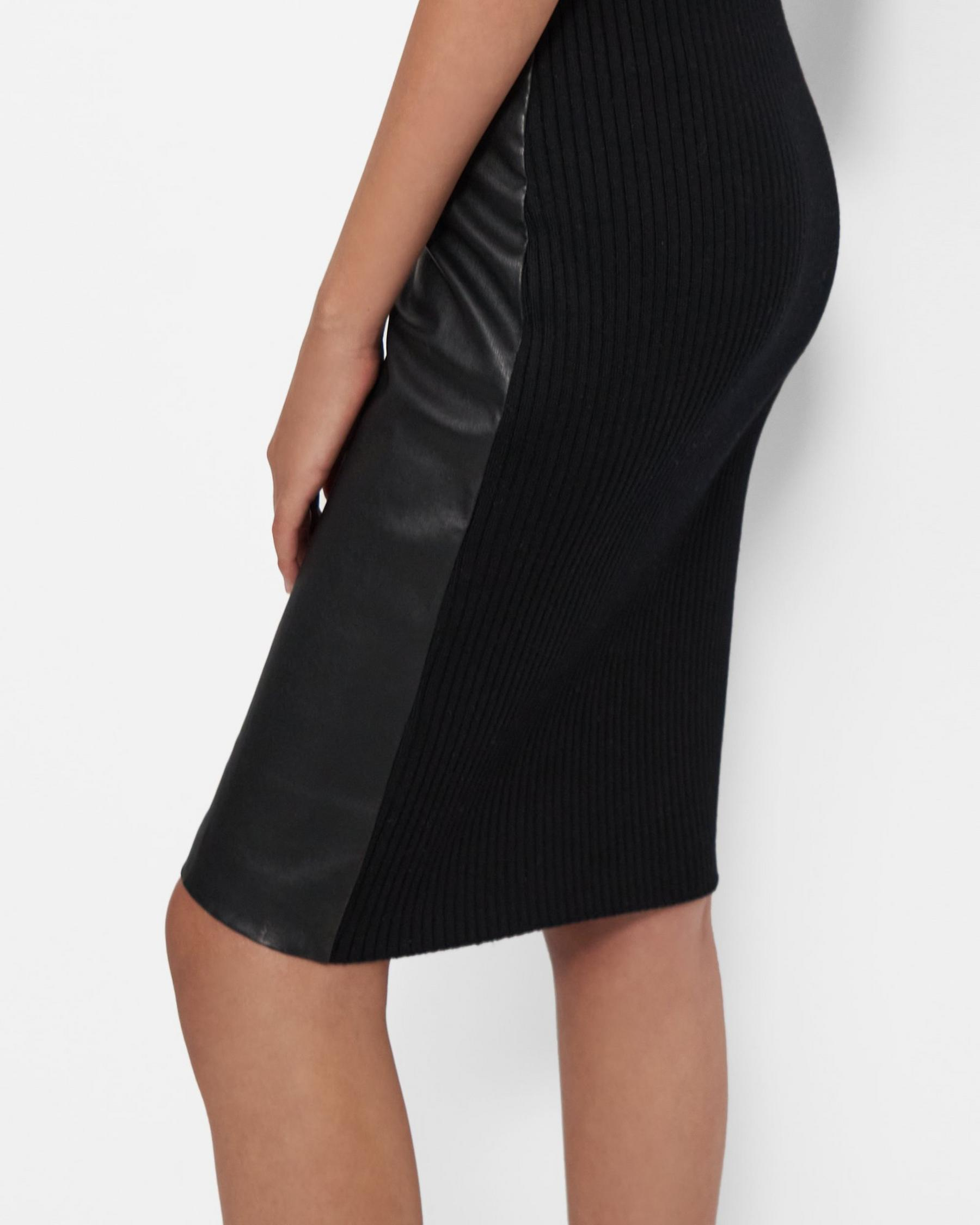 Pencil Skirt in Leather Combo 2
