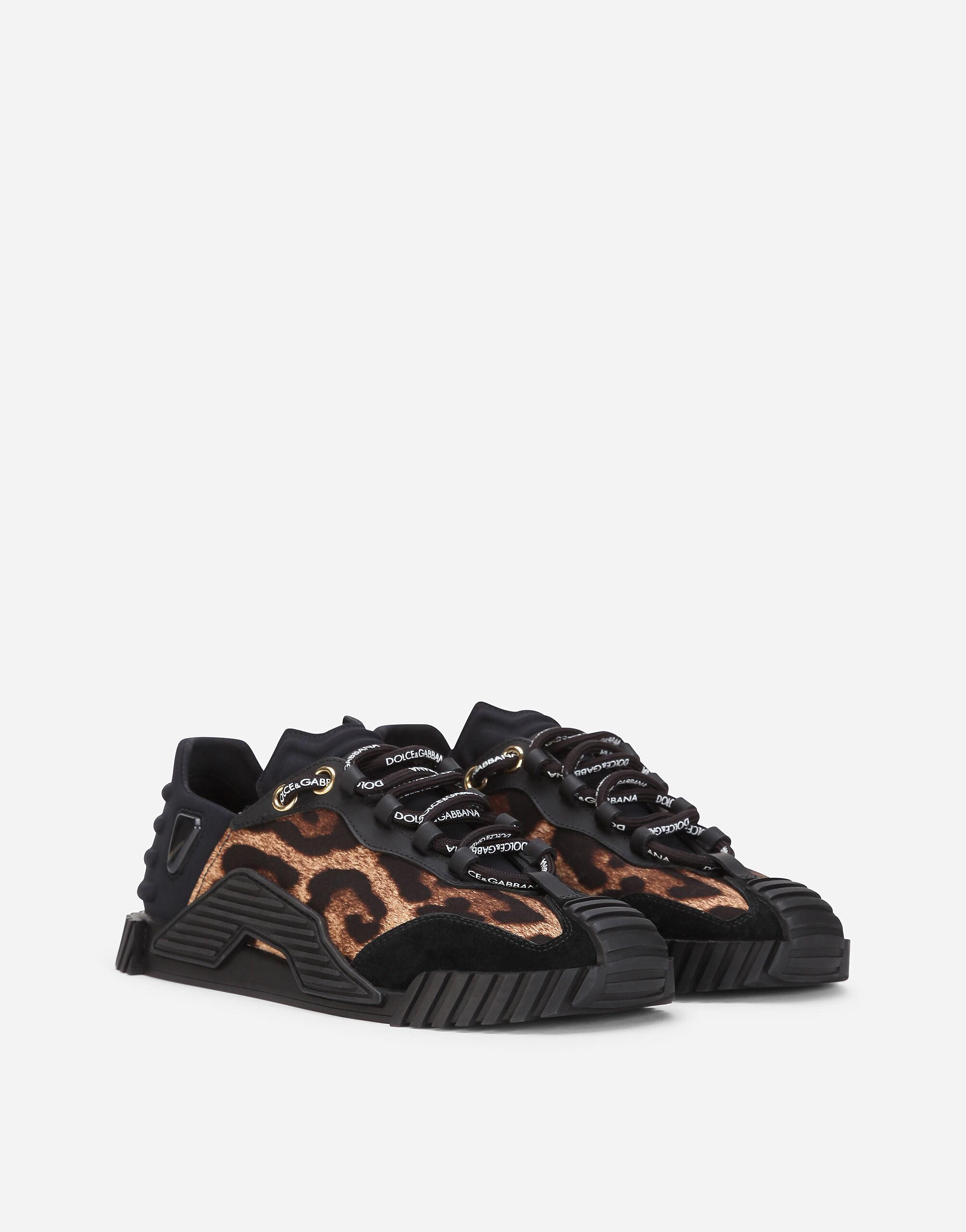 Leopard-print cotton NS1 slip-on sneakers 1